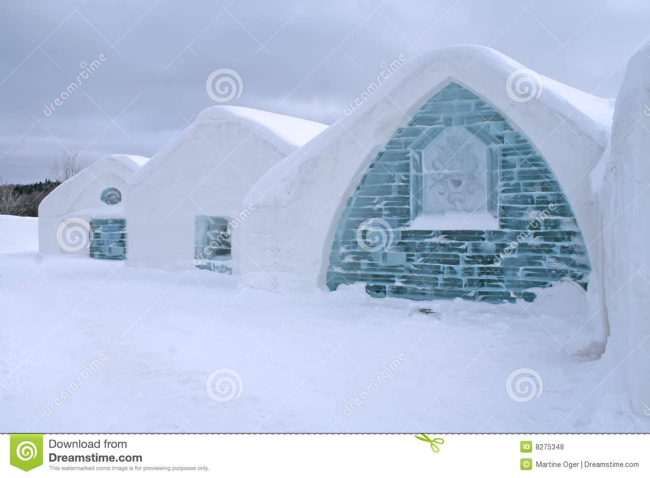 Download Windows of Ice hotel. stock photo. Image of glacial, quebec - 8275348