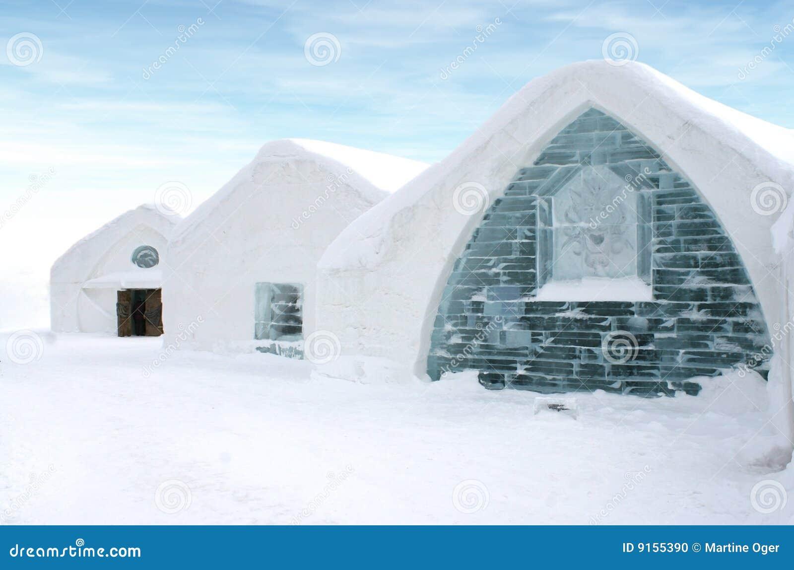 Windows of Ice hotel Quebec.