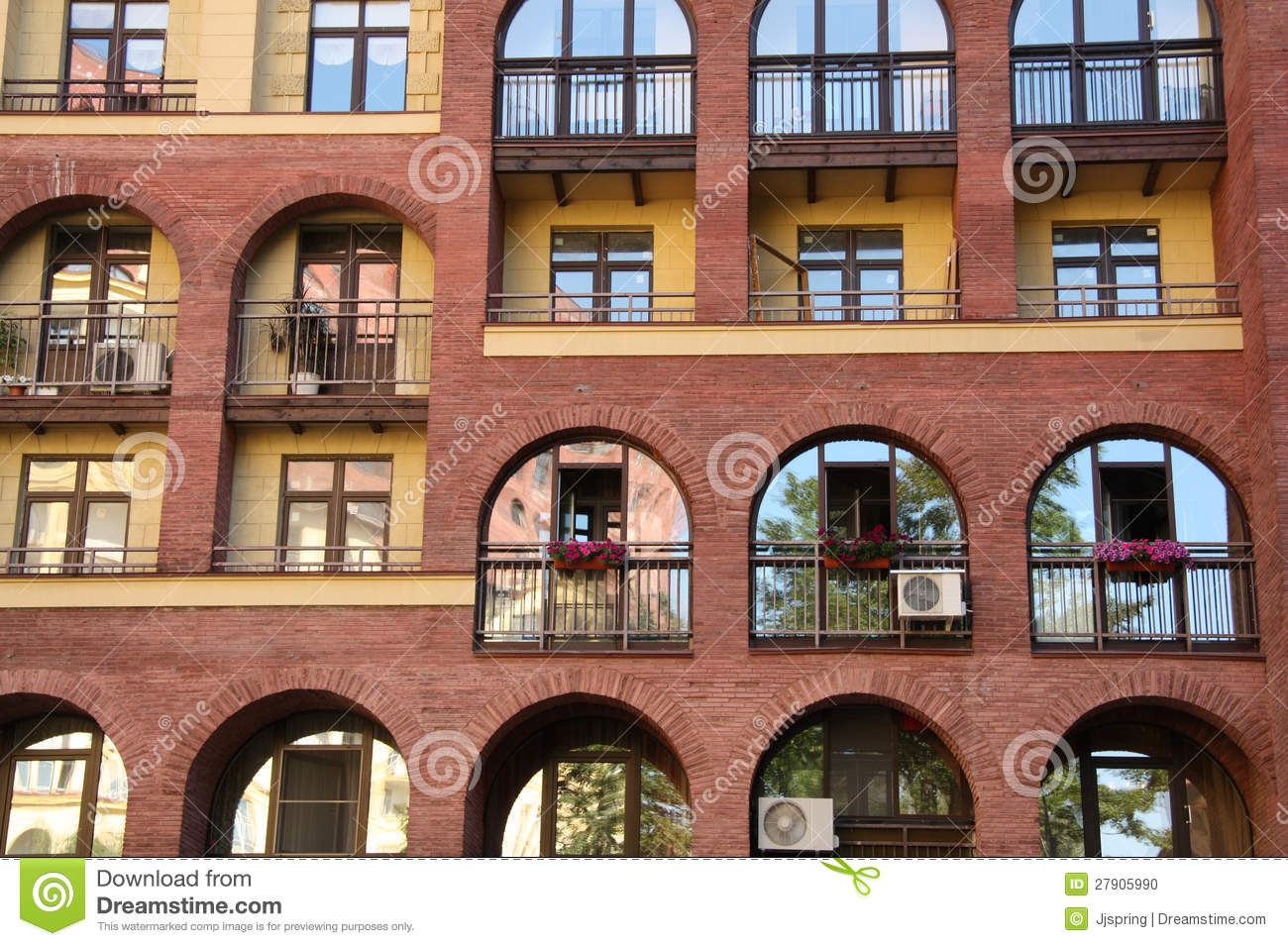 Windows Of Modern Apartment Building