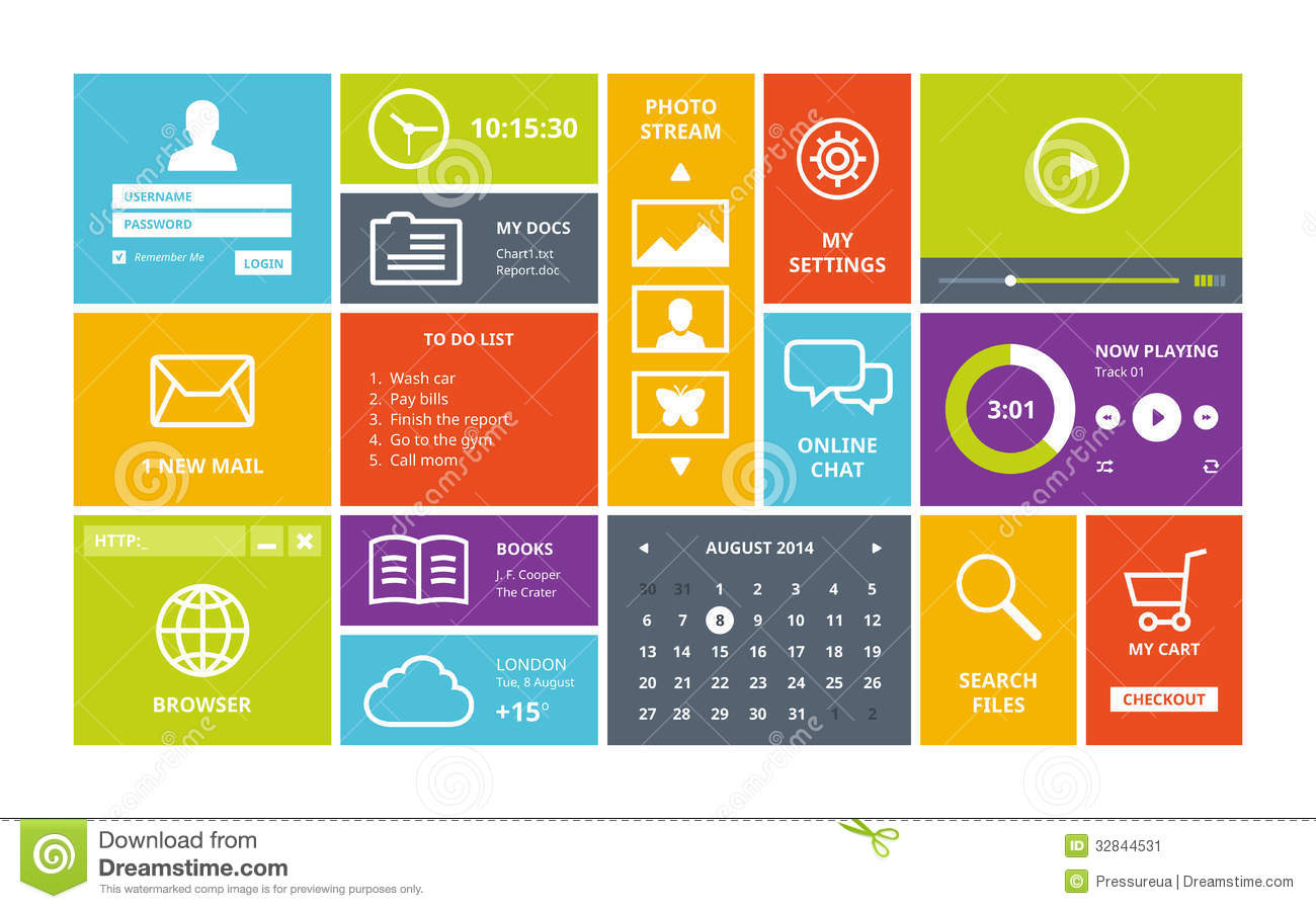 Windows 8 Modern Ui Design Layout Stock Image Image