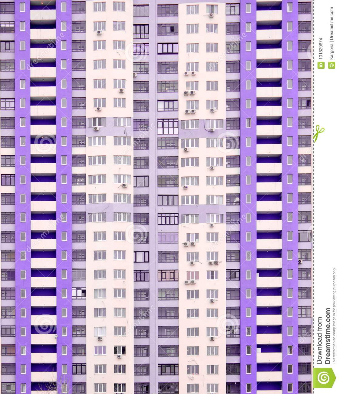 Windows Of A New Modern High-rise Apartment House Stock Photo