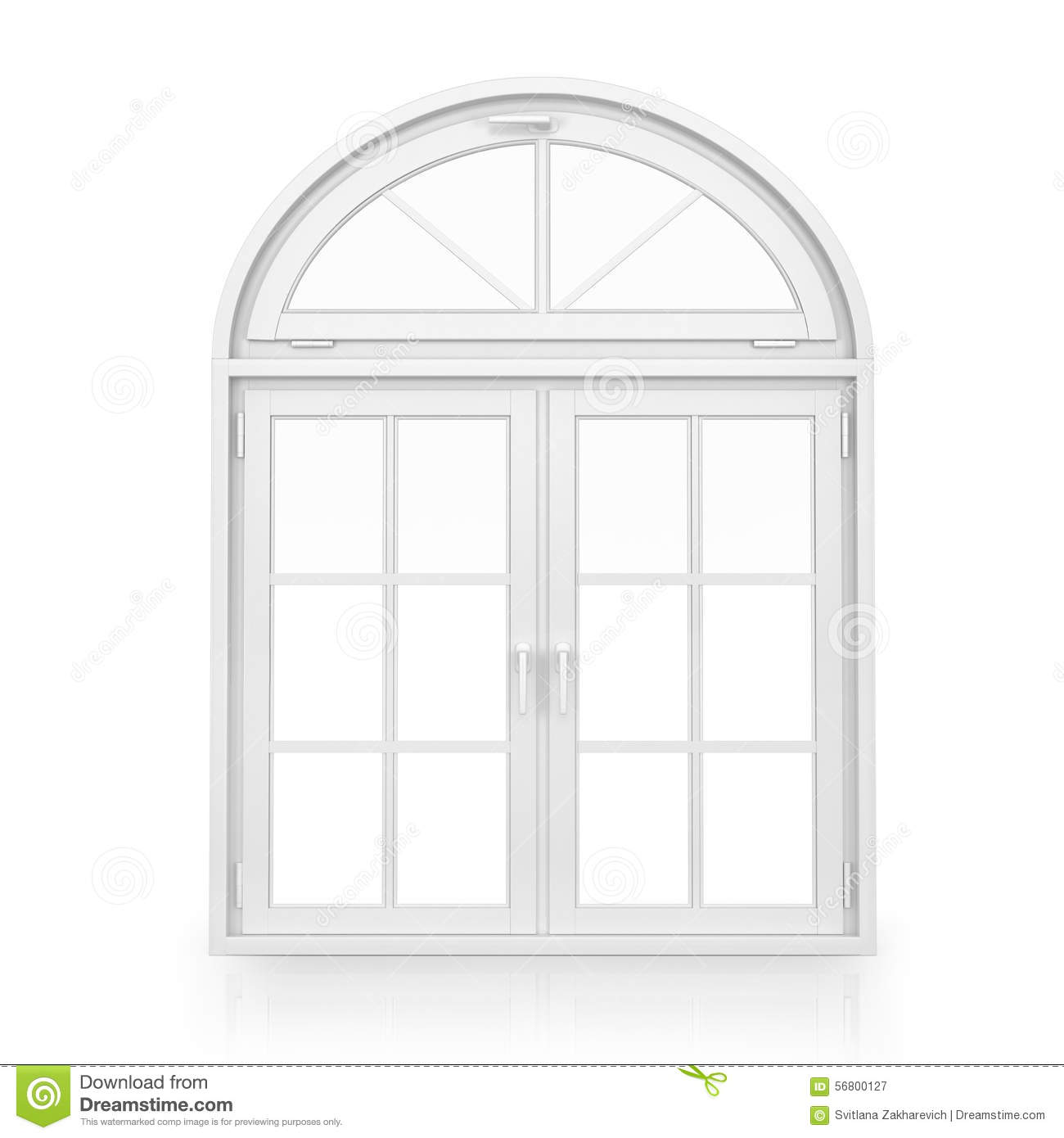 Windows plastic arch window stock illustration image for Window plastic
