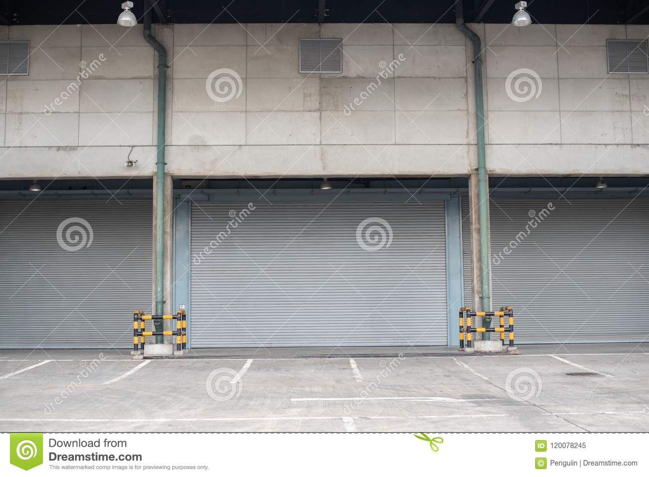 Windows protected with roller shutters, background texture