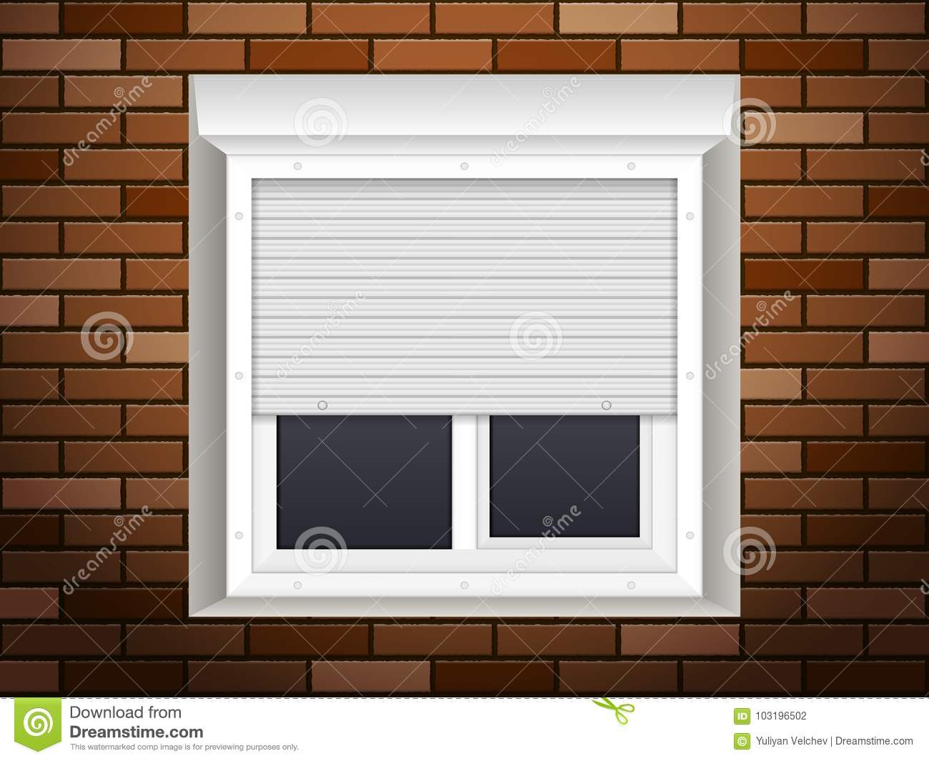 Windows With Rolling Shutters Stock Vector Illustration Of