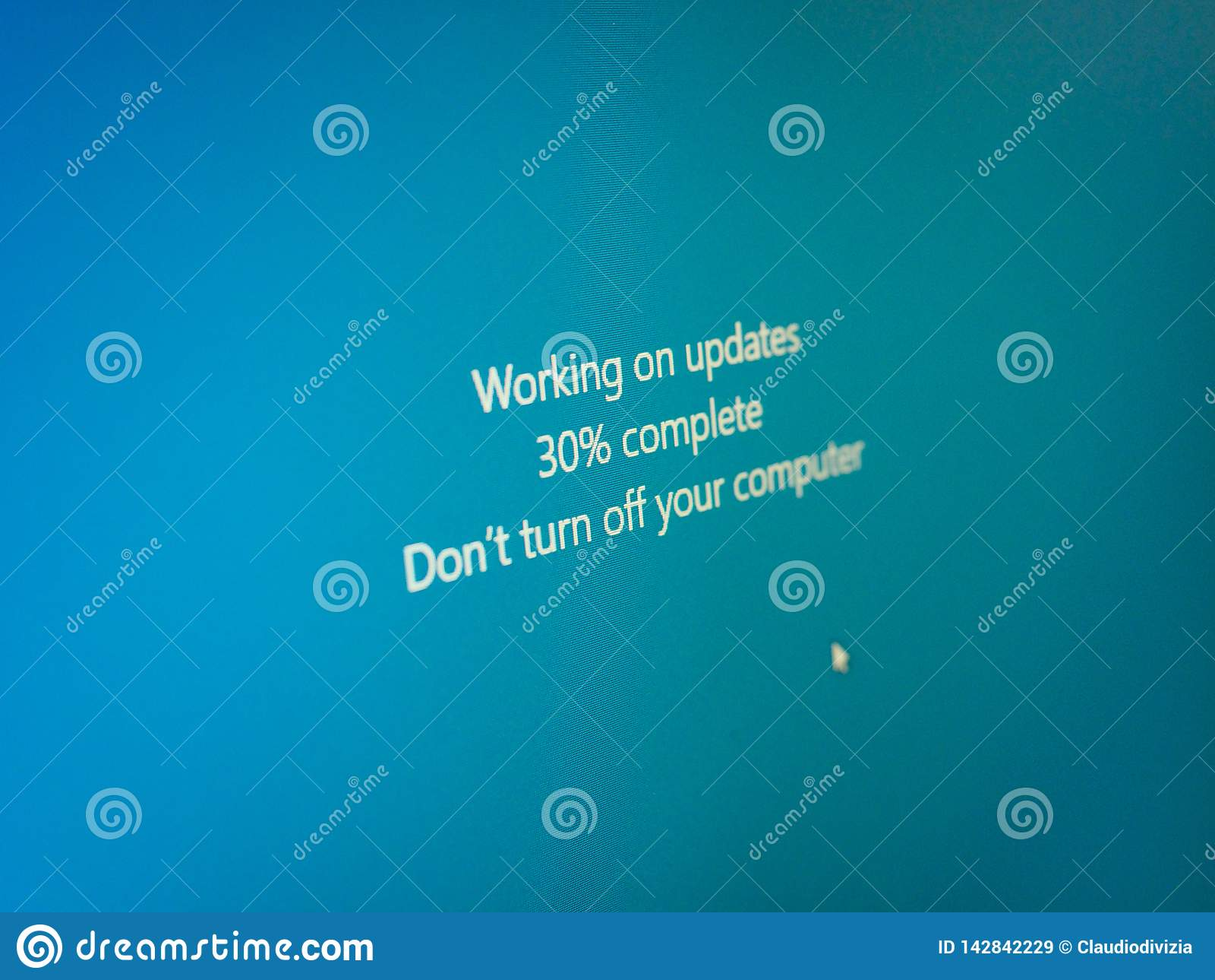 Windows update message stock illustration  Illustration of