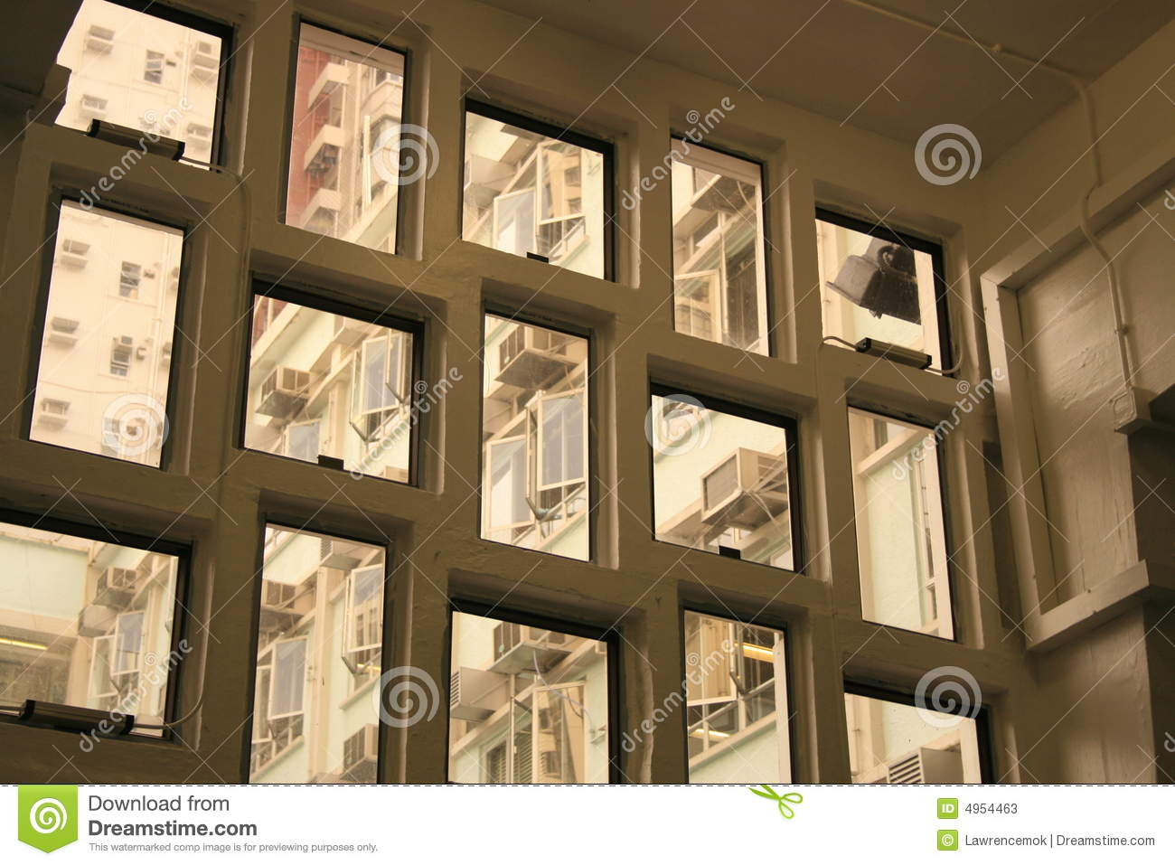 Windows Of Various Sizes And Shape Stock Photos Image