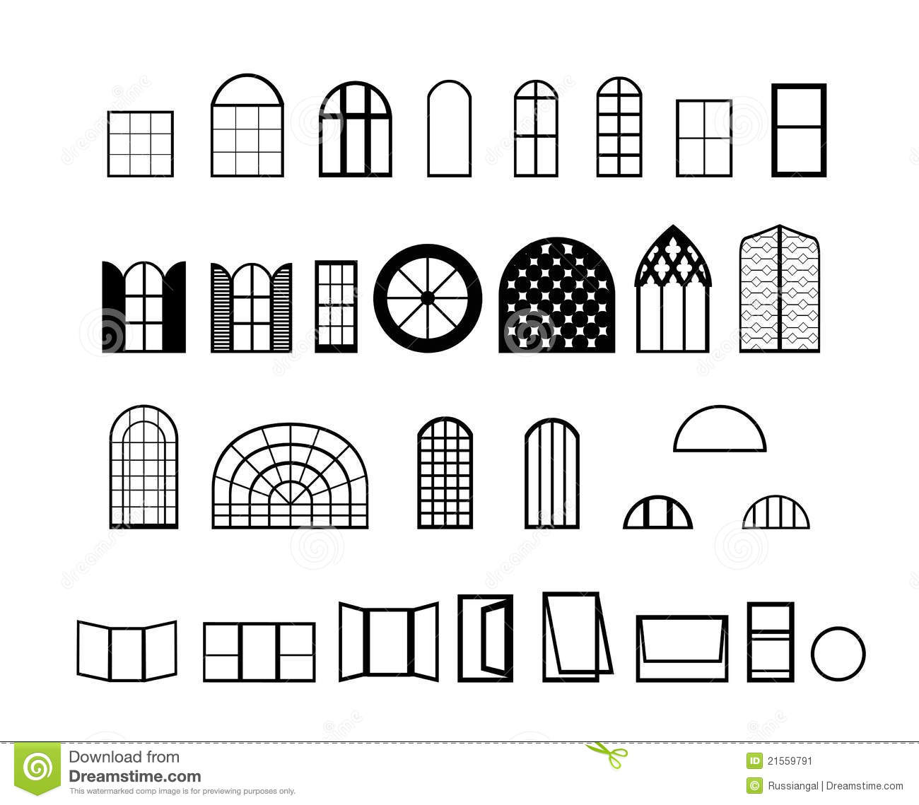 Windows Vectors Stock Image Image 21559791