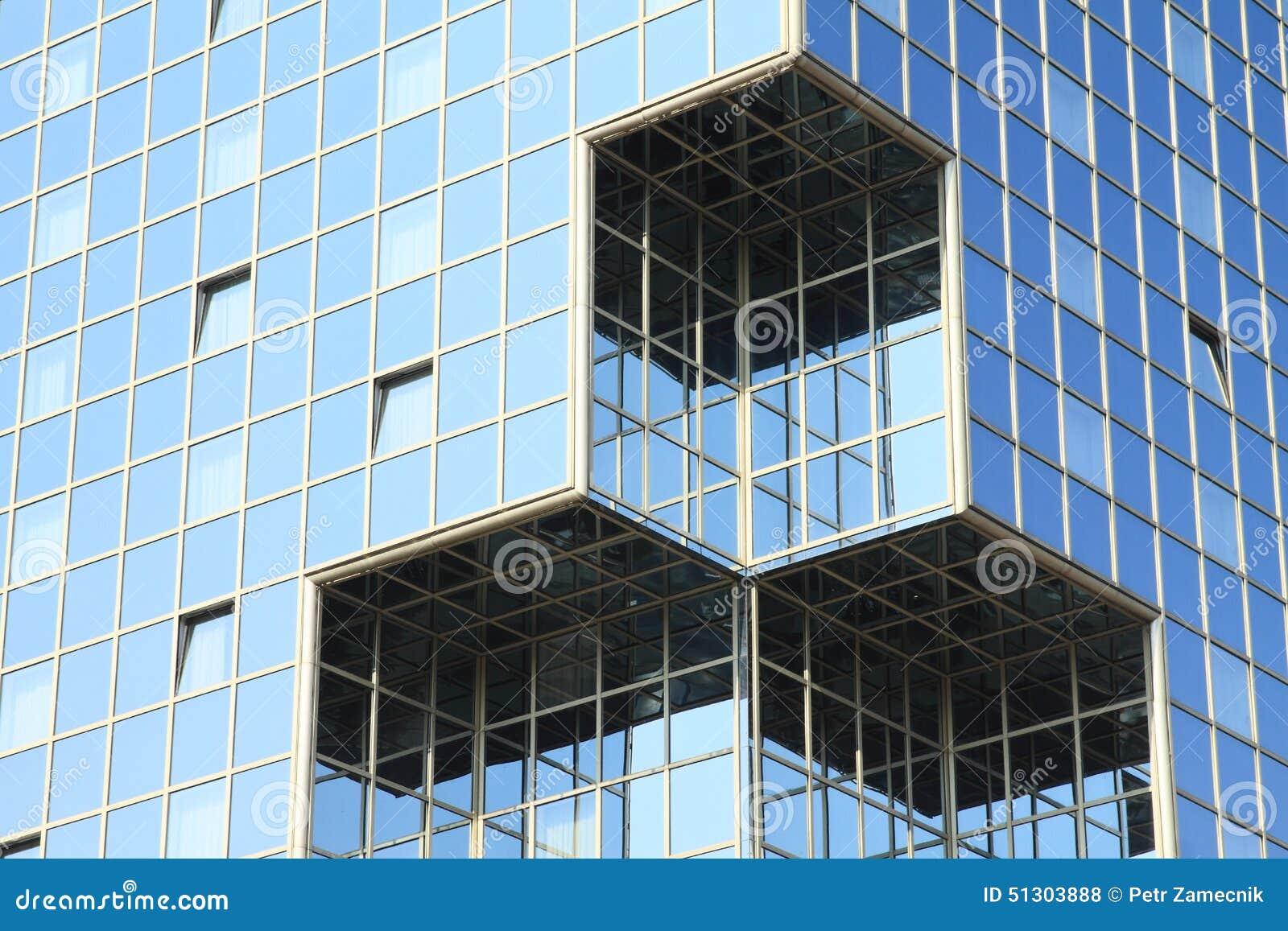 Windows w szklanej ścianie