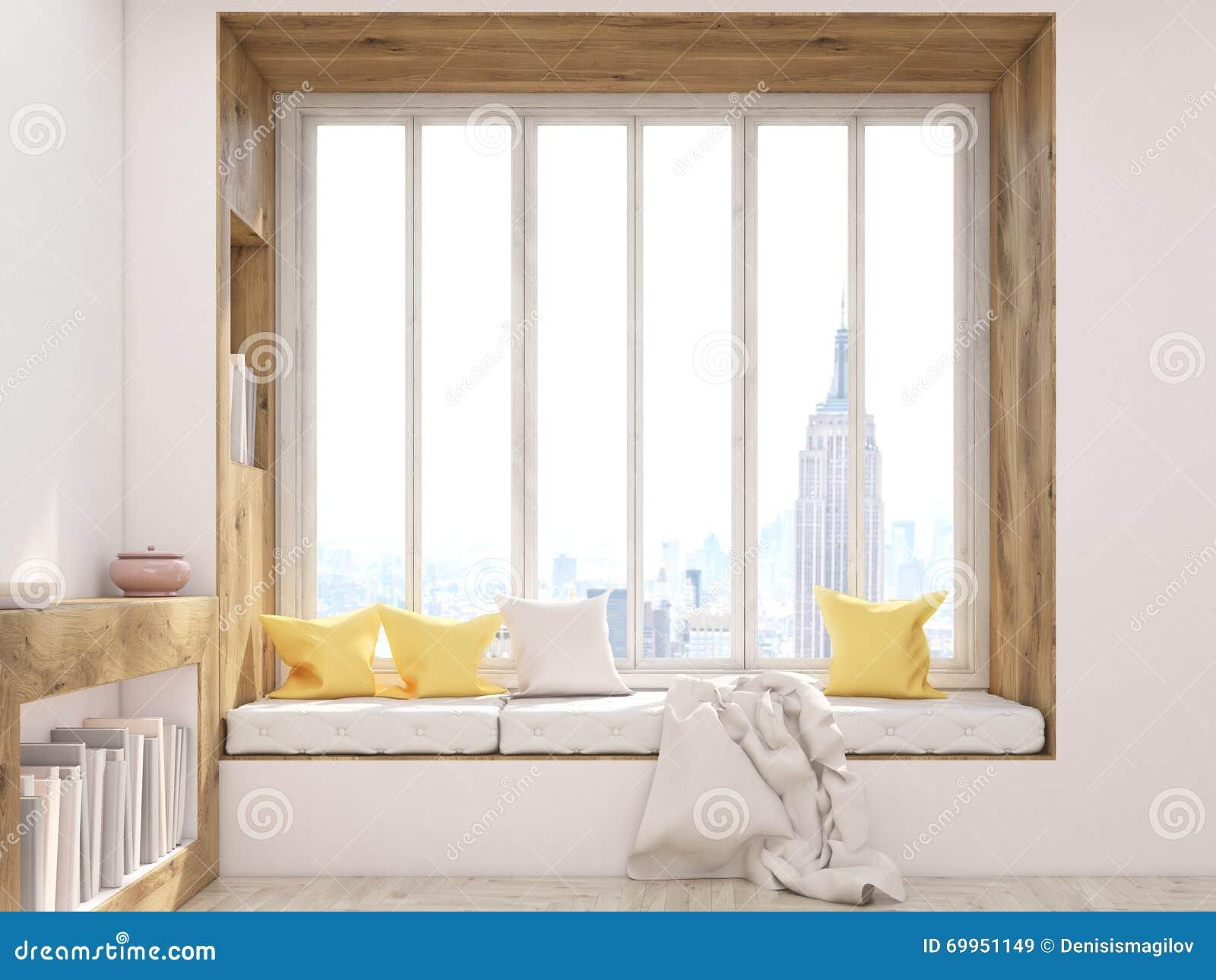 Windowsill Seat Front Stock Illustration Of House