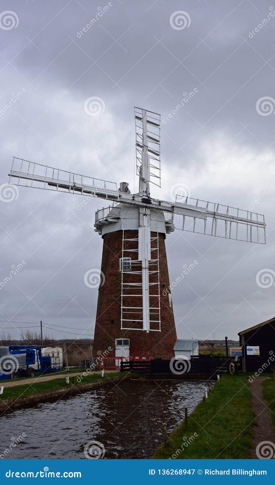 Windpump de caballo, Norfolk, Inglaterra
