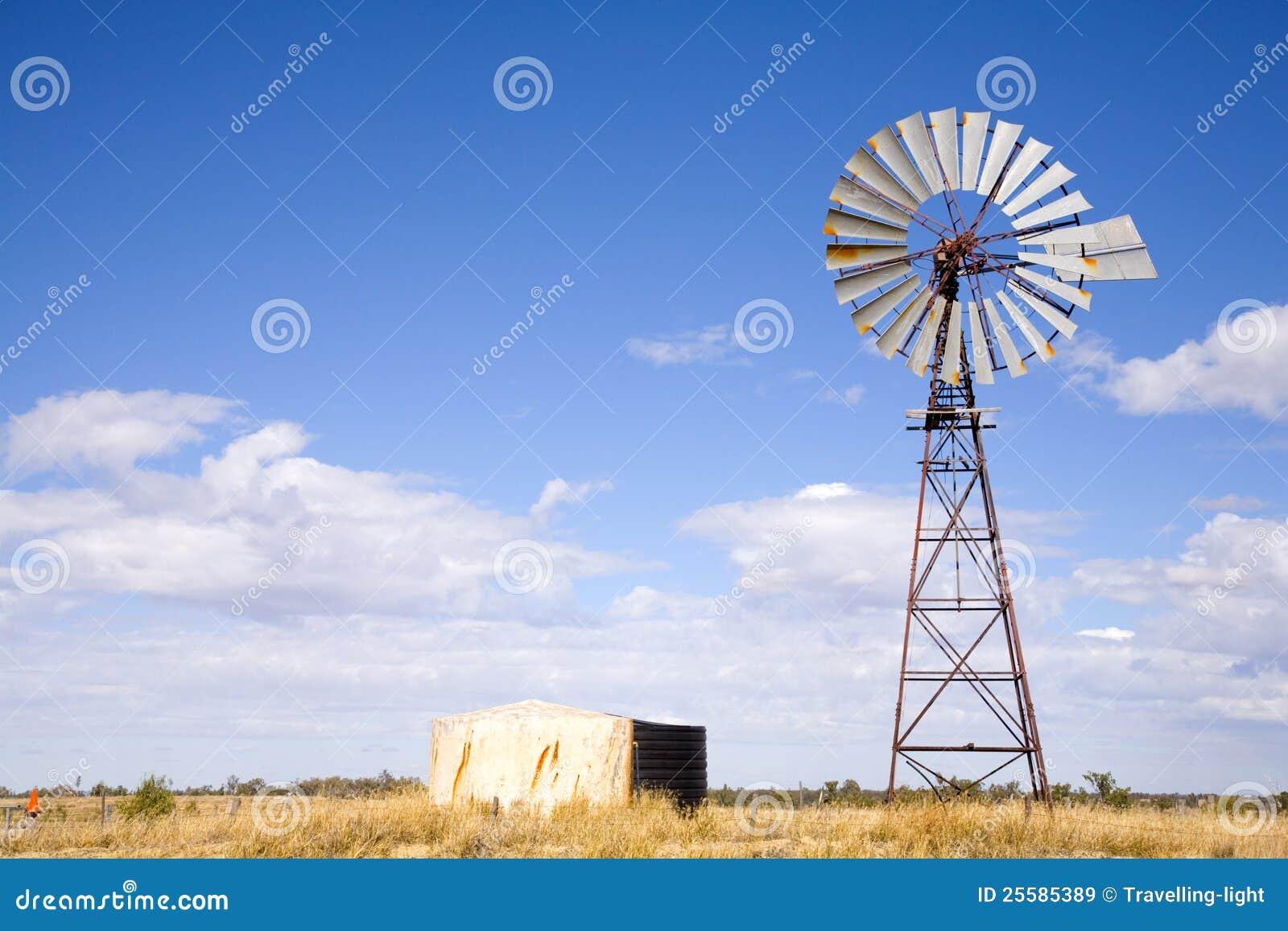 Windpump no interior Austrália