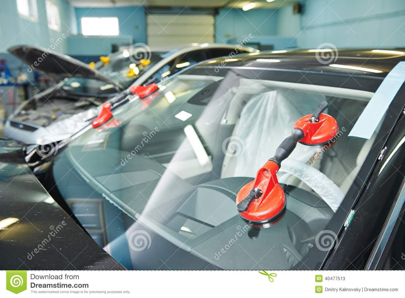 Windshield windscreen replacement royalty free stock image for Auto window motor repair