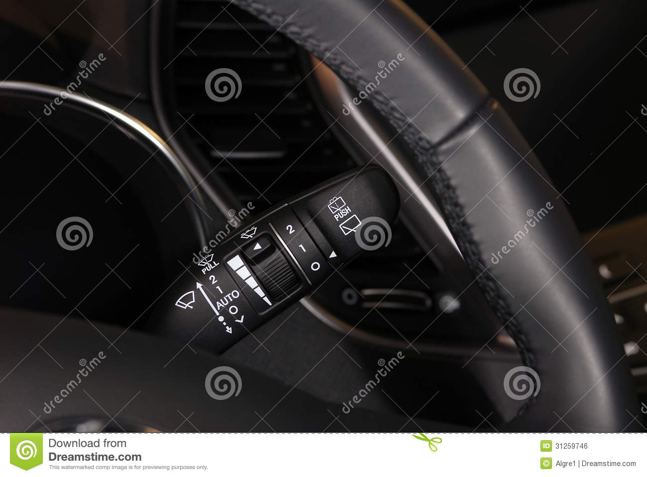 windshield wiper switch royalty free stock image image 31259746. Black Bedroom Furniture Sets. Home Design Ideas