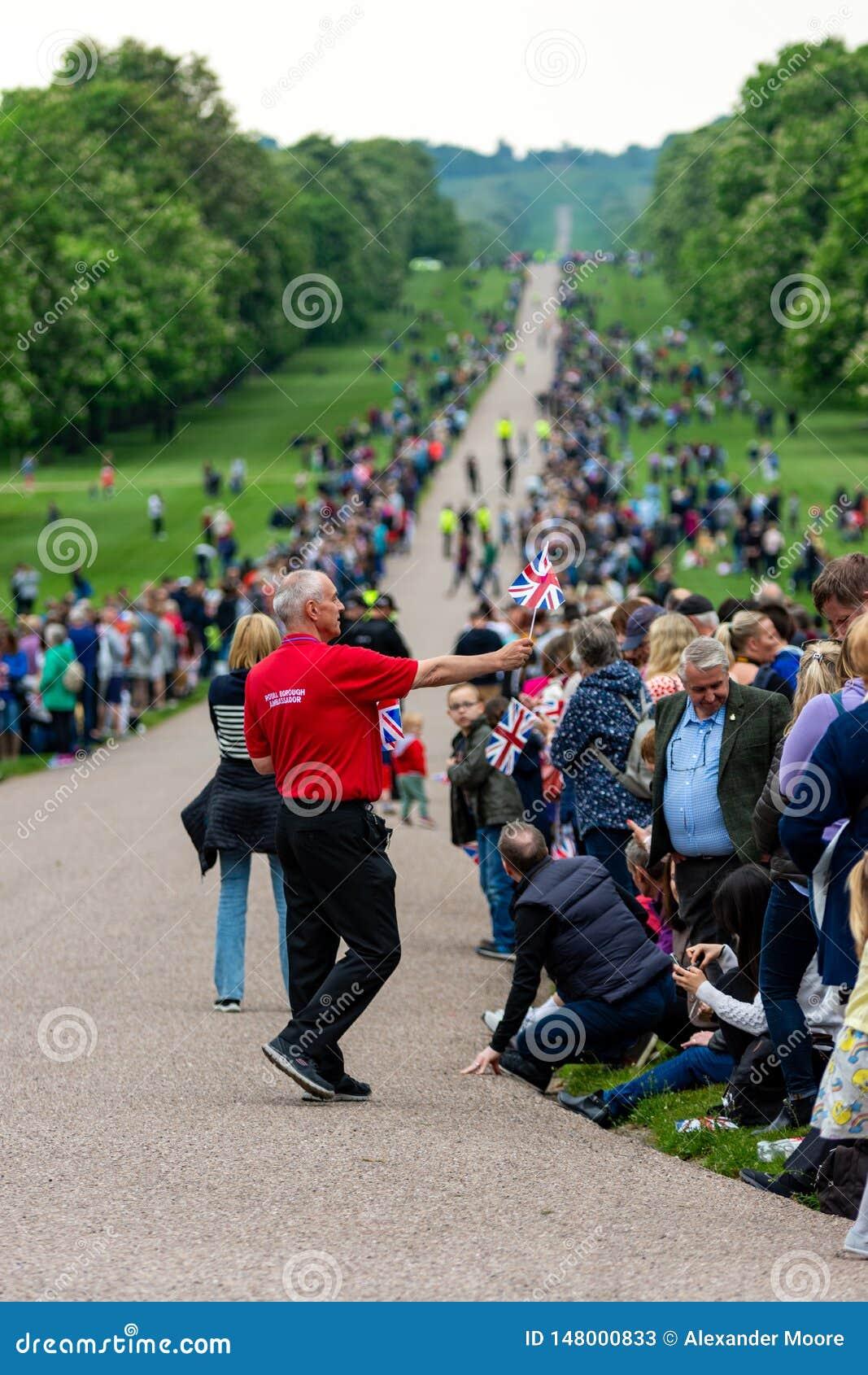 Windsor, ¬â€œ BRITANNIQUE de 'de ââ le 18 mai 2019 : La cavalerie de ménage marquer leur départ aux casernes de Comberme