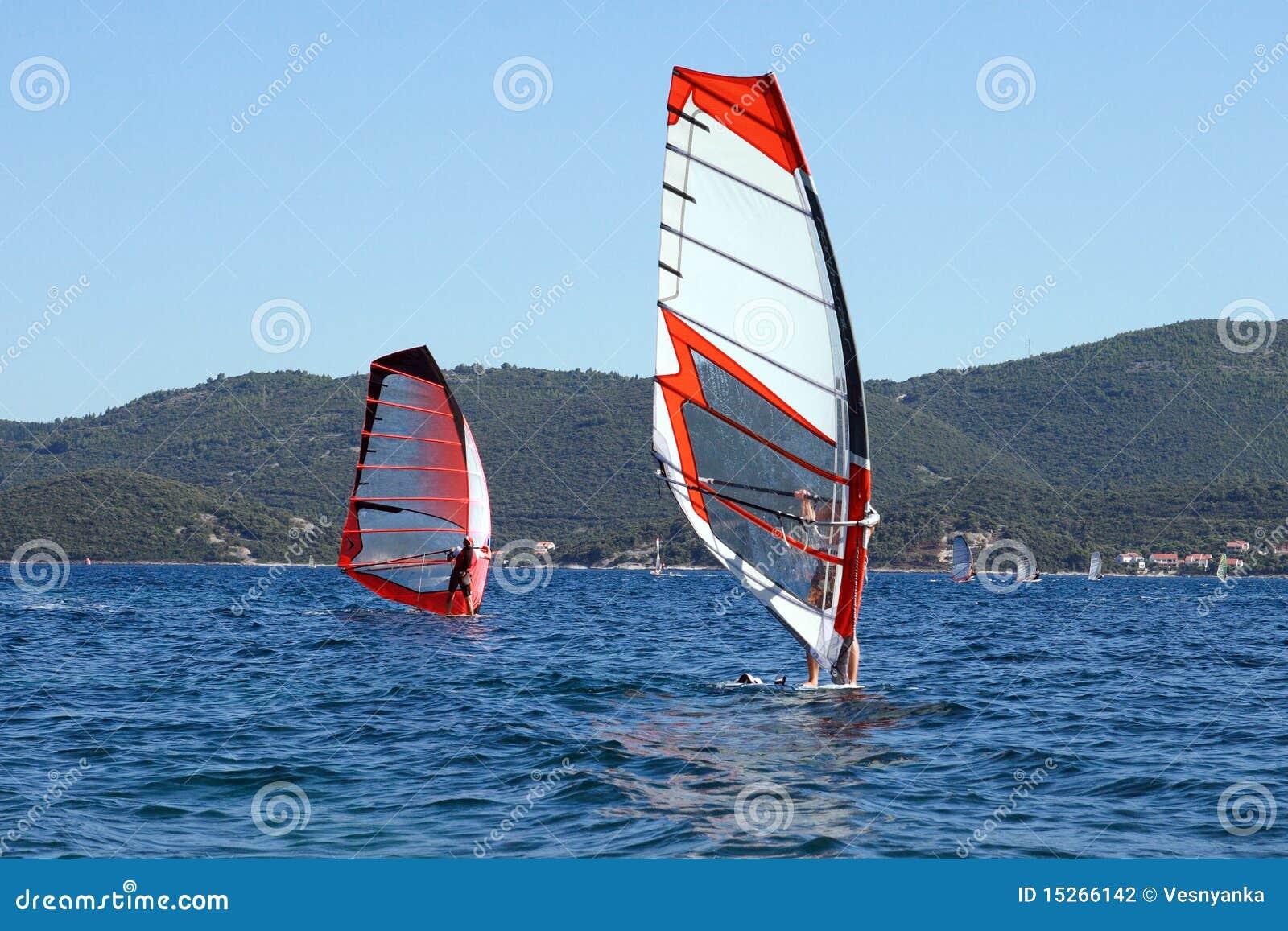 ... , Die In Das Adriatische Meer Surfen Stockfotografie - Bild: 15266142