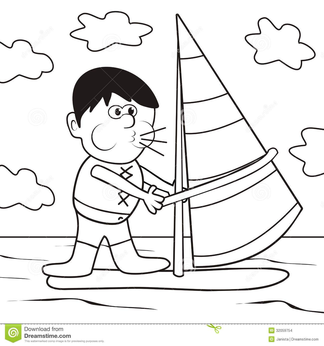 windsurfing coloring book - Colouring Books For Children