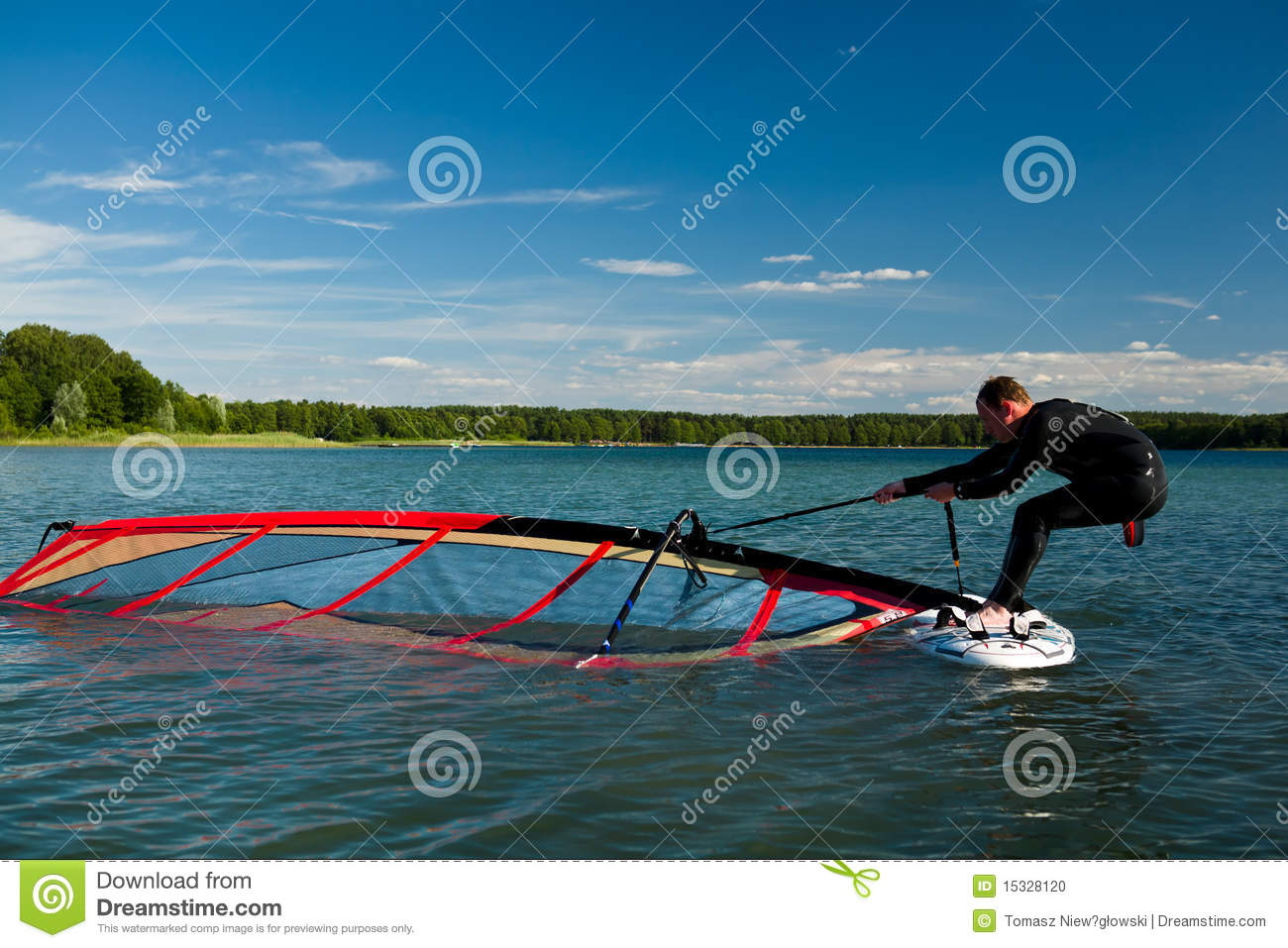 Download Windsurfing lessons stock photo. Image of color, polarizer - 15328120