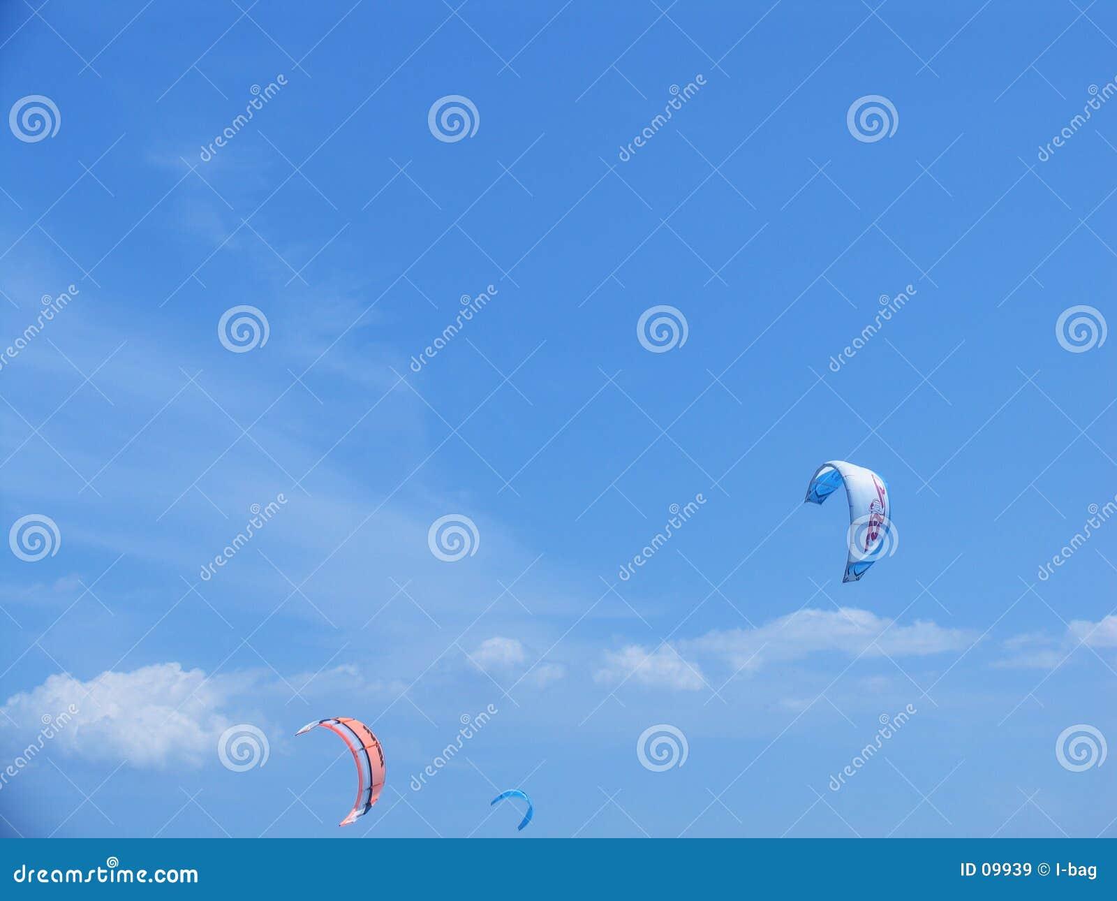 Windsurfing par l intermédiaire des parapentes