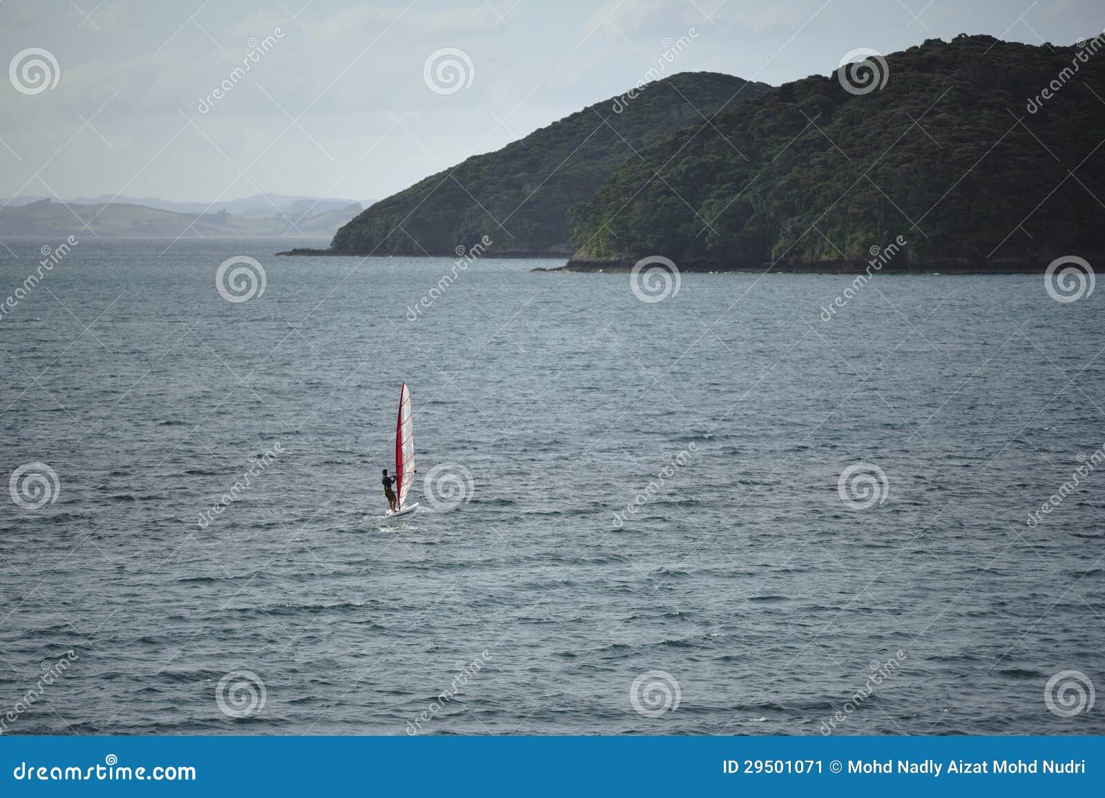 Windsurfing rond Baai van Eilanden