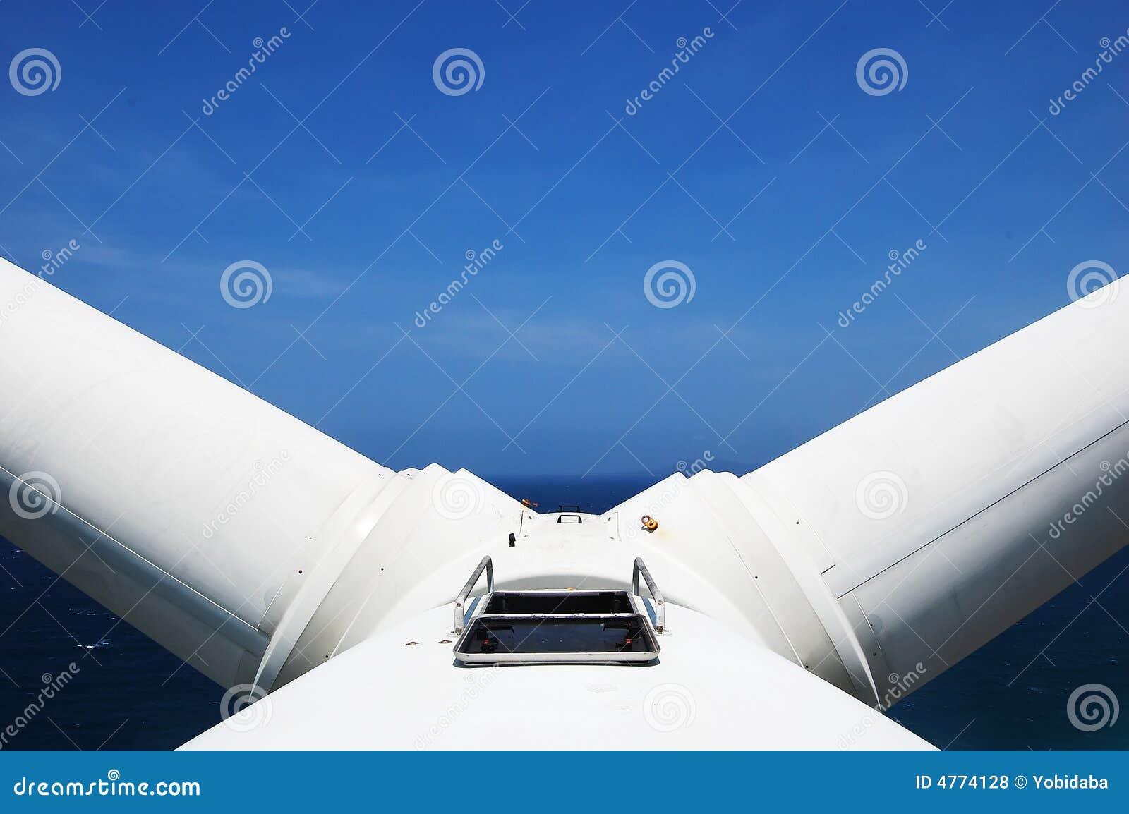 Windturbine in v-Stellung