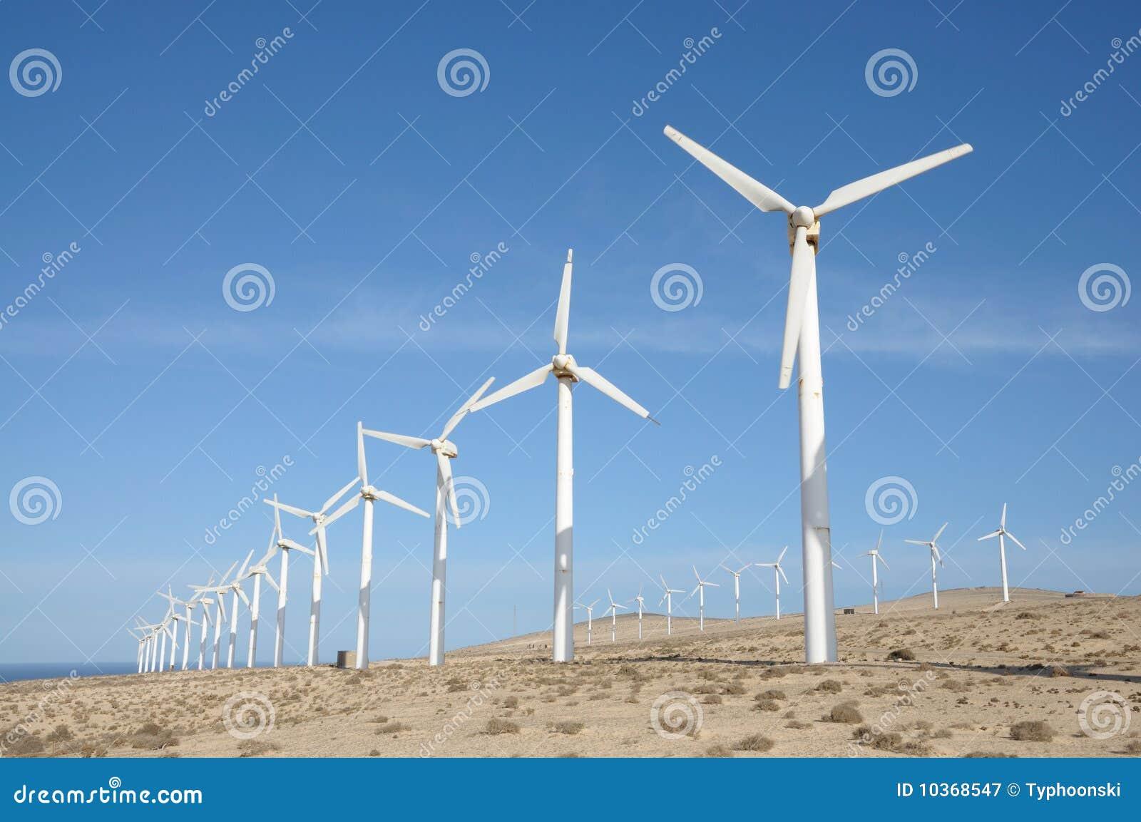 Windturbinen für erneuerbare Energie