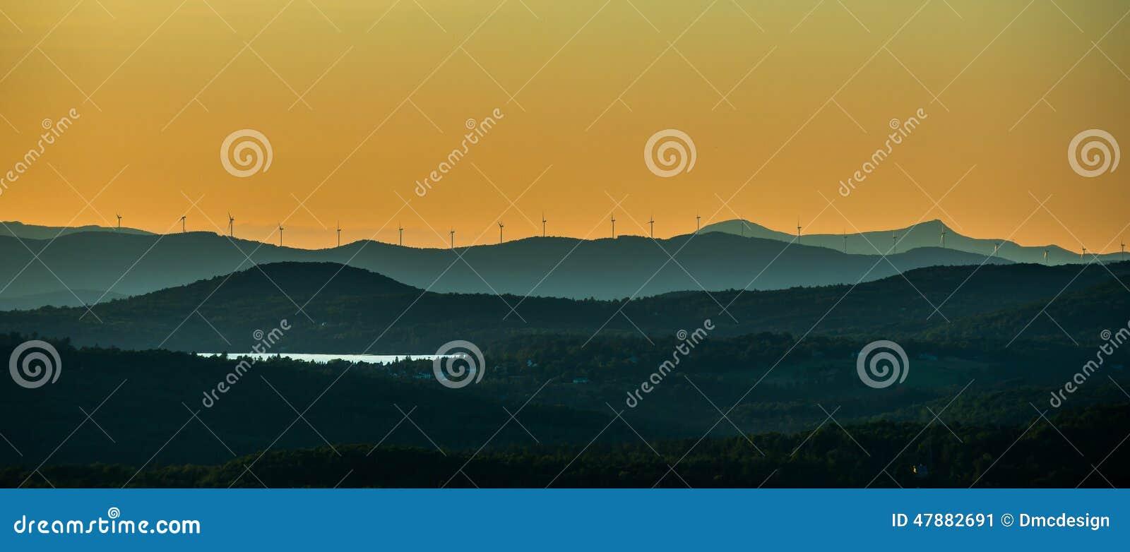 Windturbines op de Richel van Vermont