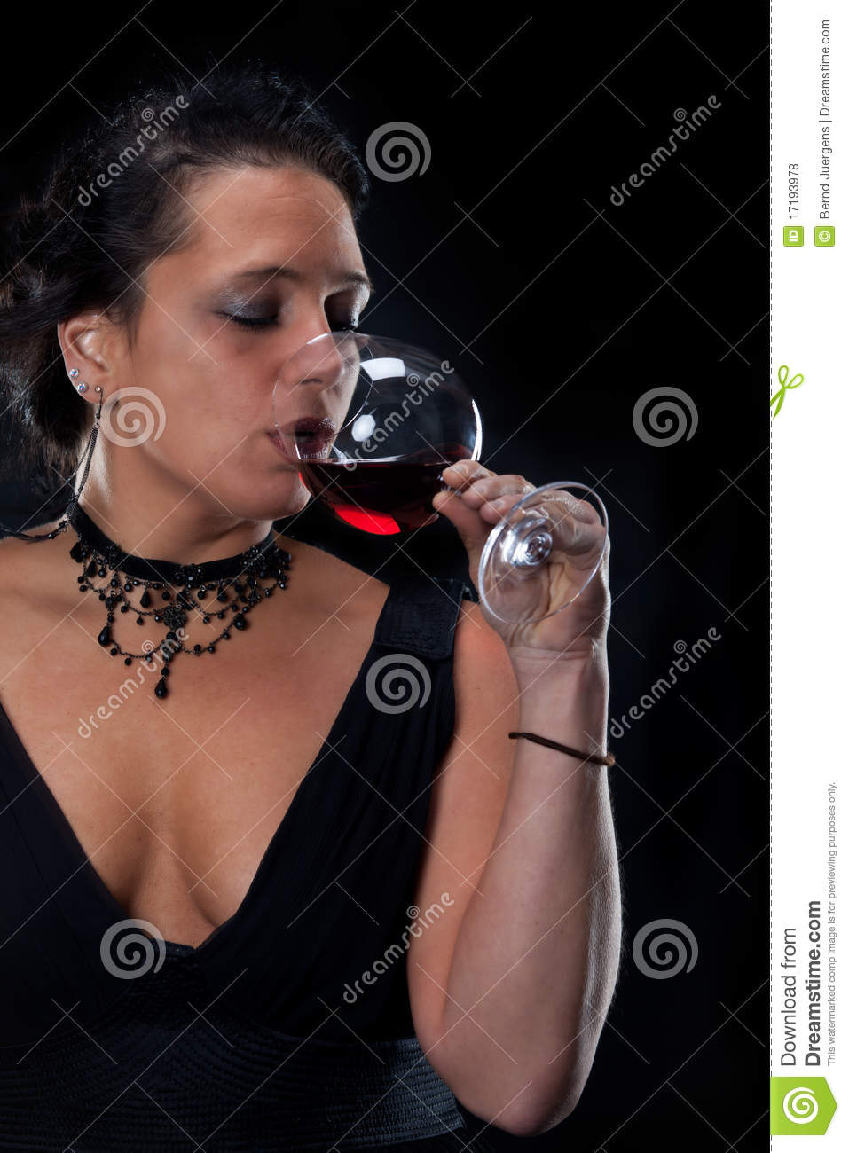 Download Wine stock photo. Image of dress, necklace, lady, female - 17193978