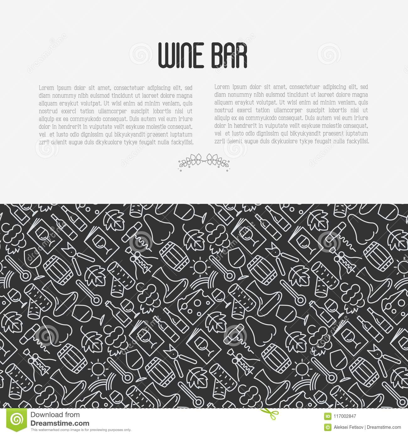wine bar concept for restaurant menu stock vector illustration of