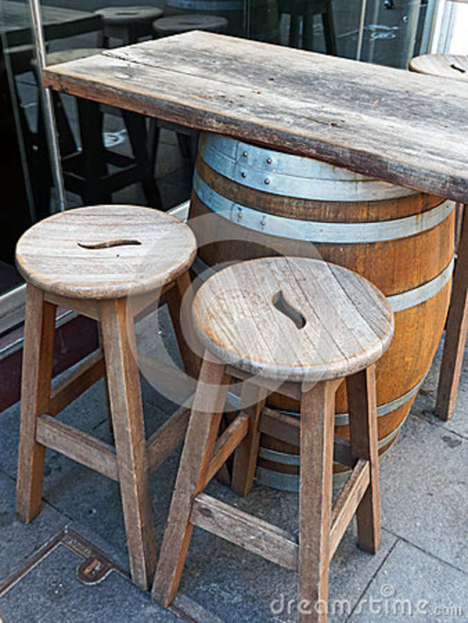 Pleasant Wine Barrel Bar Table Stock Image Image Of Wooden Wine Ncnpc Chair Design For Home Ncnpcorg