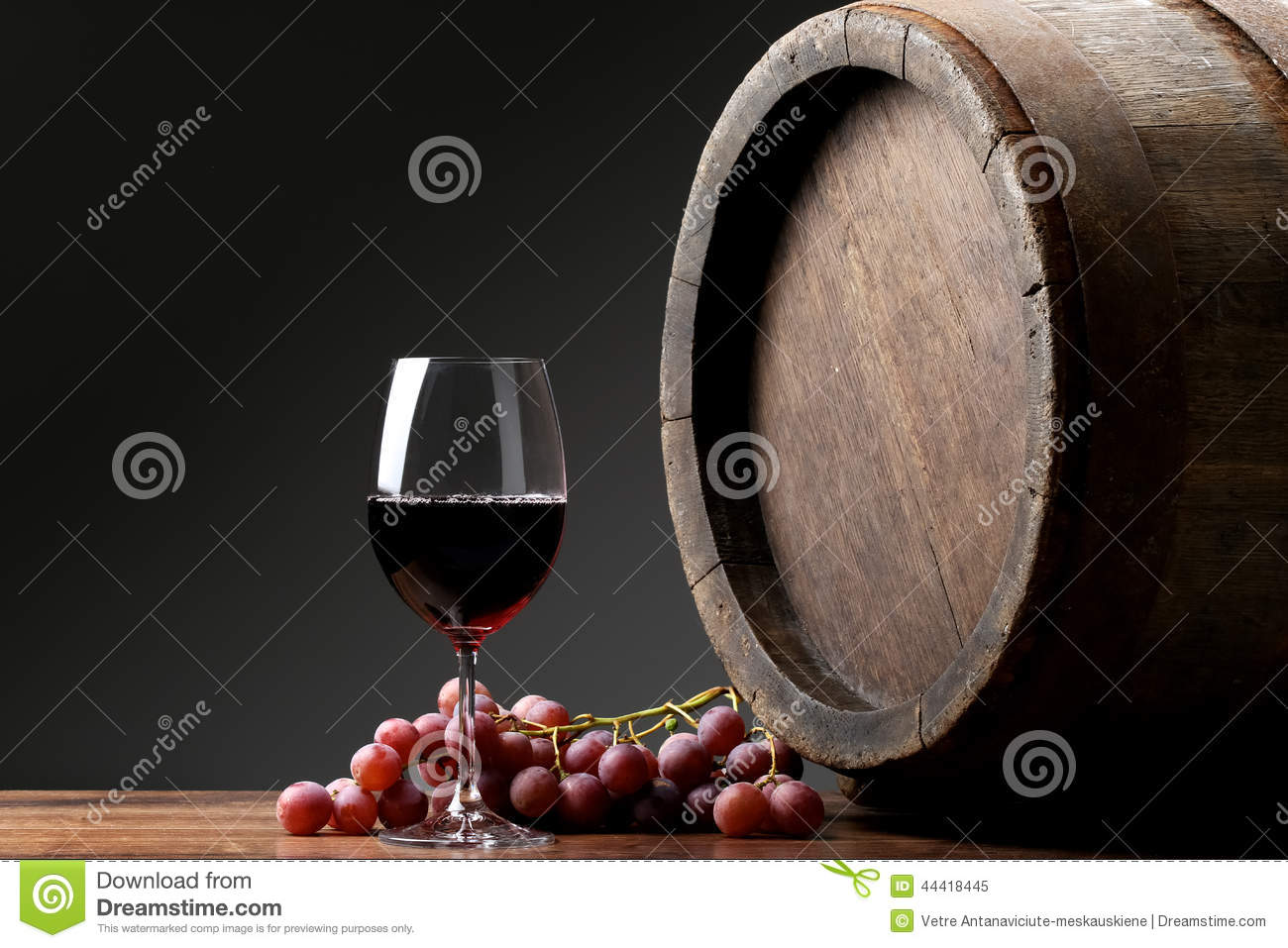 Wine with barrel
