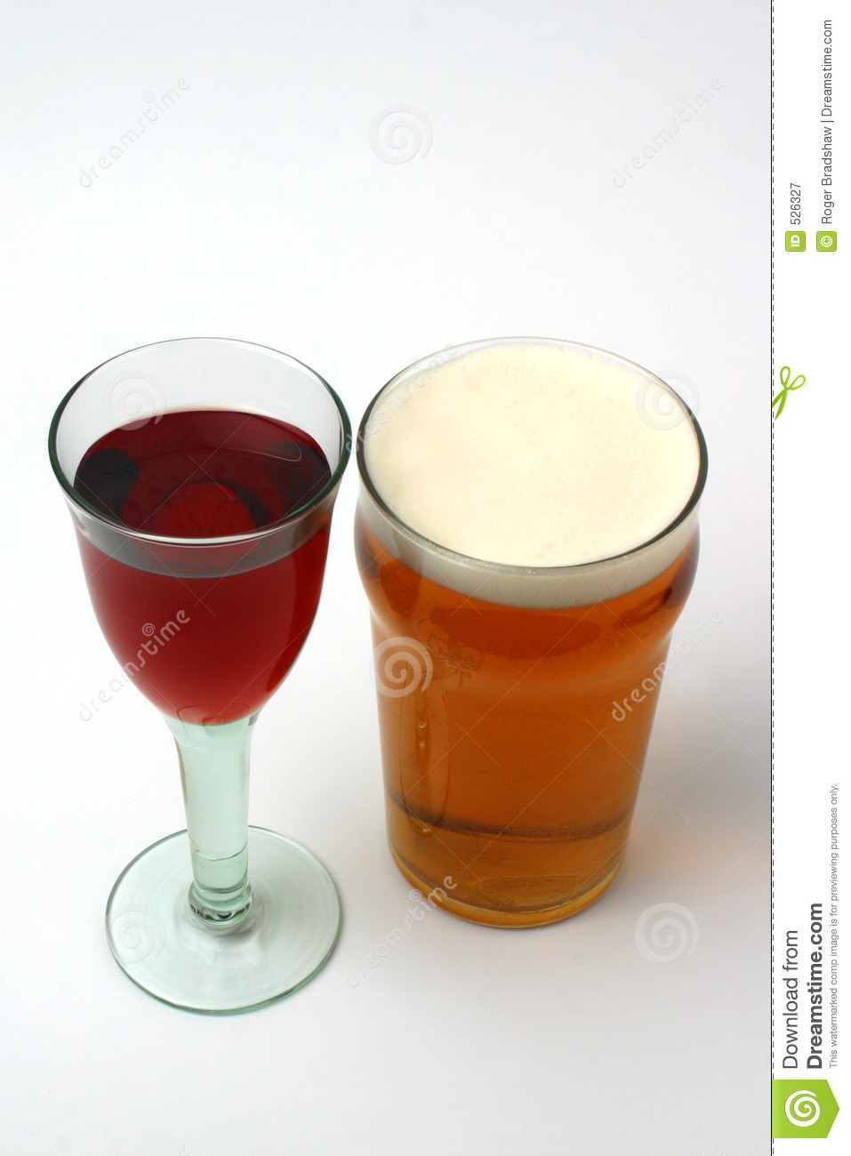 Wine And Beer Royalty Free Stock Photography - Image: 526327