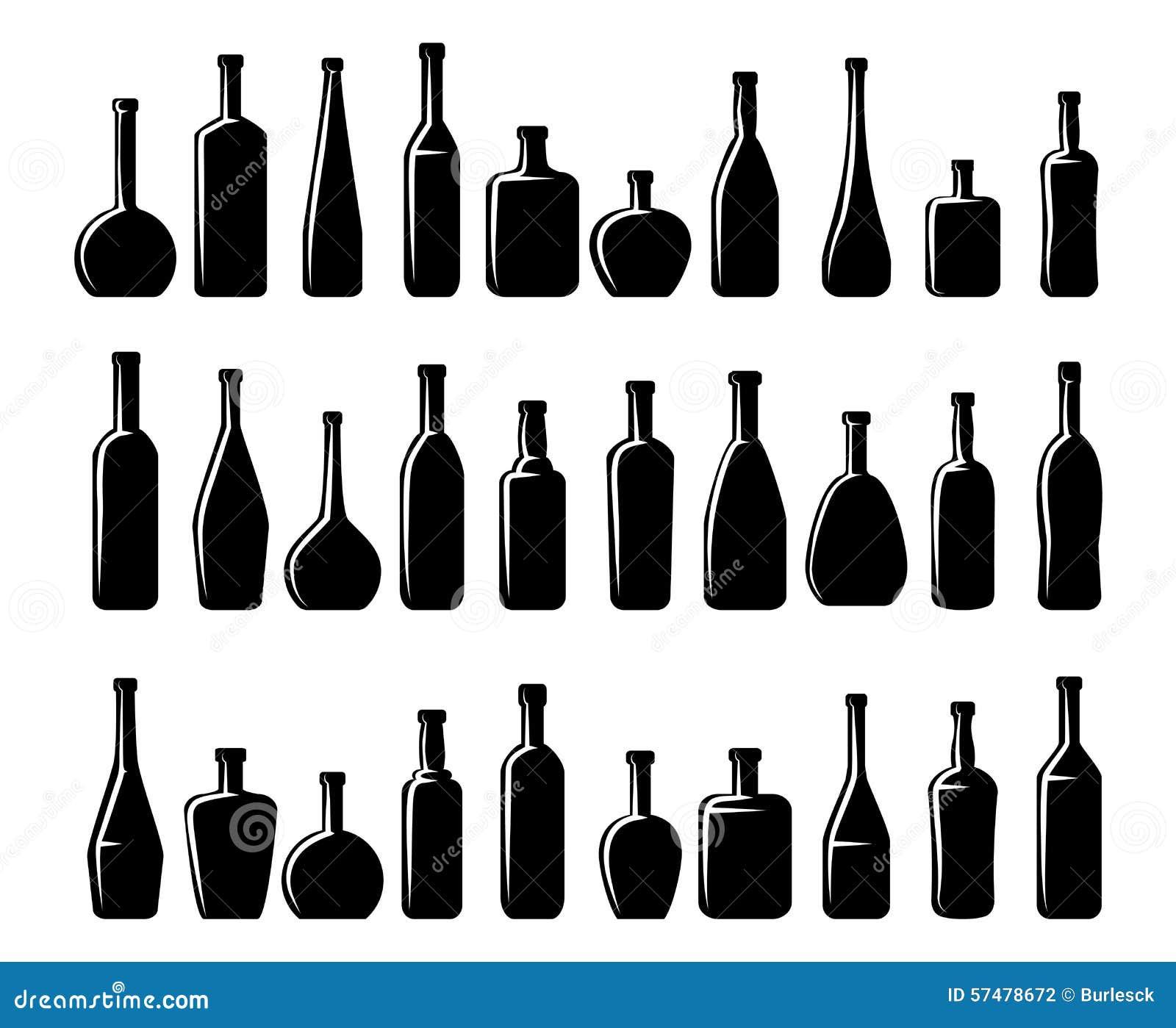 Clip On Glass Bottles Dark