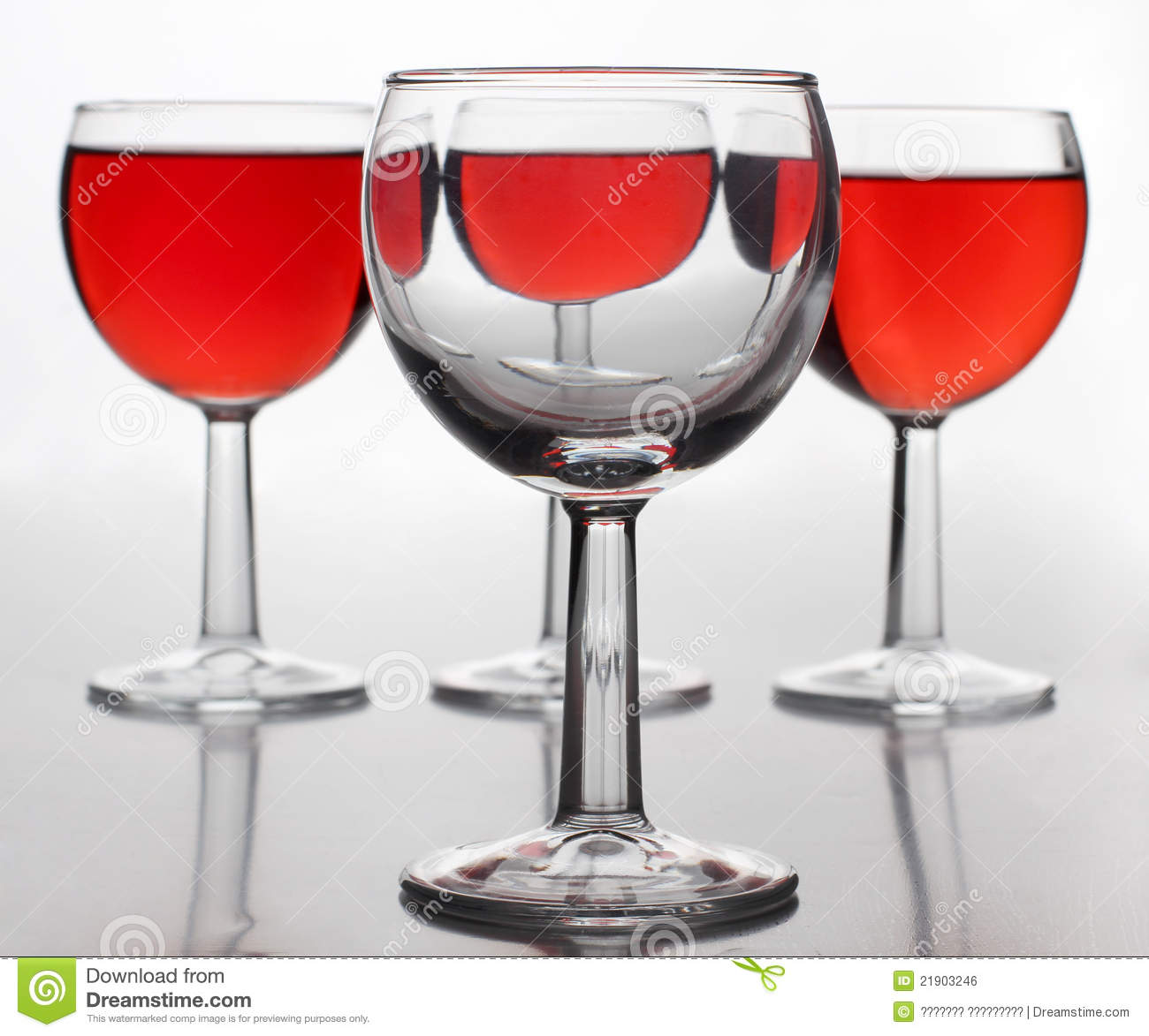Wine In Big Glasses Royalty Free Stock Image Image 21903246