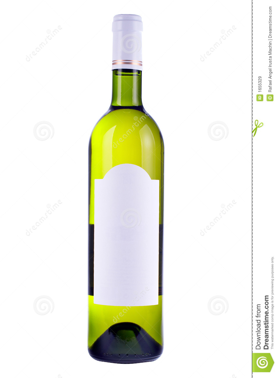 Wine Bottle With Blank Label Stock Image - Image: 1655329