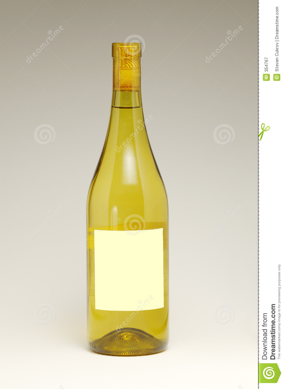 Wine Bottle With Blank Label Stock Image - Image: 354767