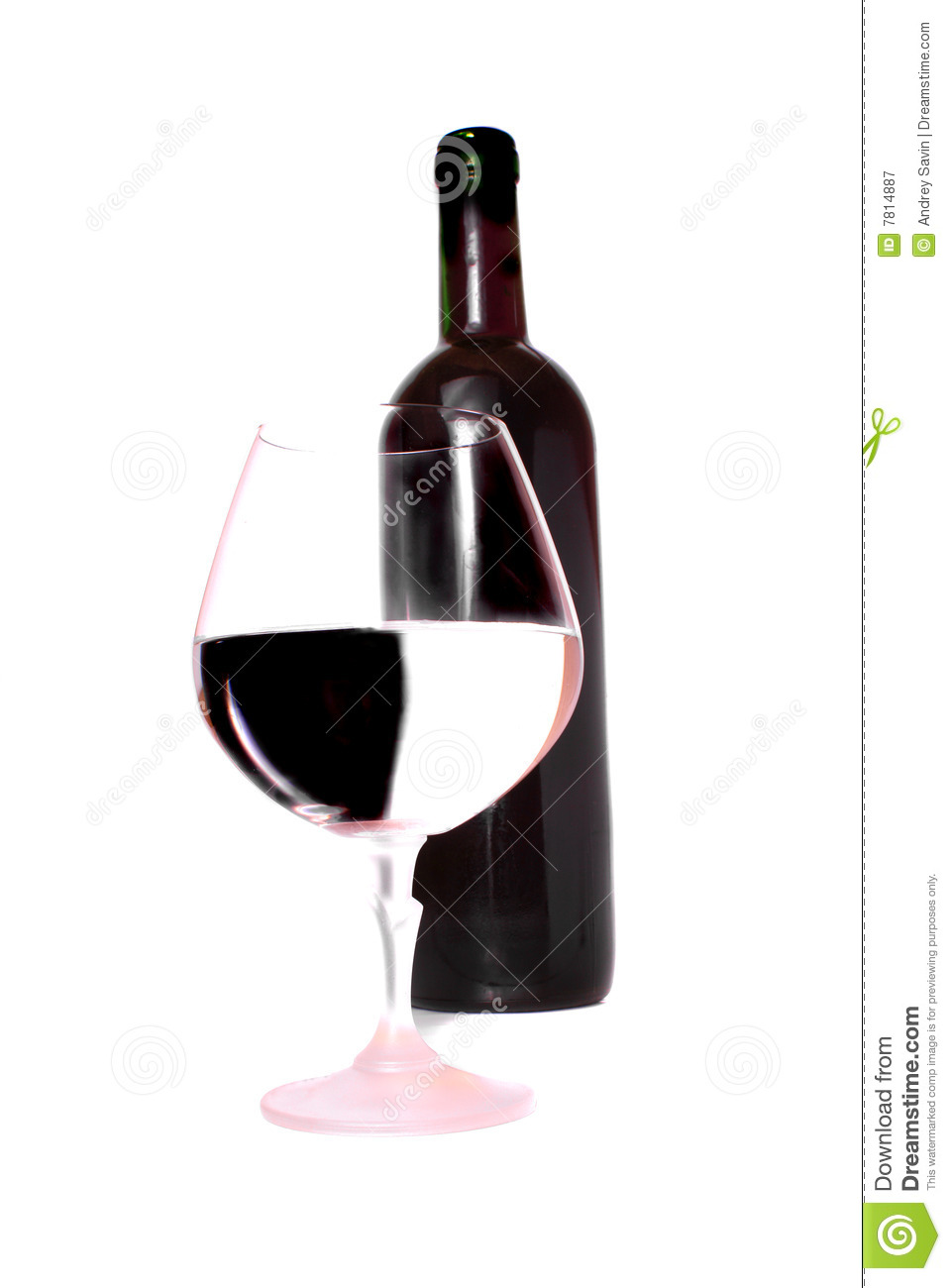 Wine bottle and glass royalty free stock photography for Wine bottle glass