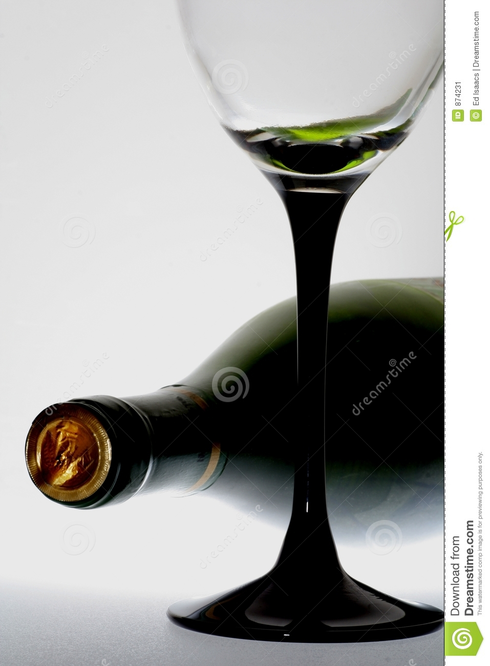 Wine bottle and glass stock image image 874231 for Wine bottle glass