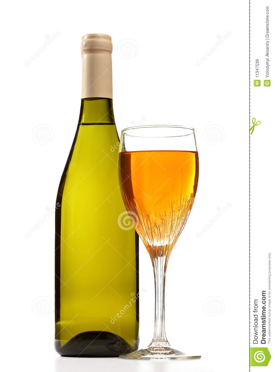 Wine bottle and glass with wine isolated royalty free for Wine bottle glass