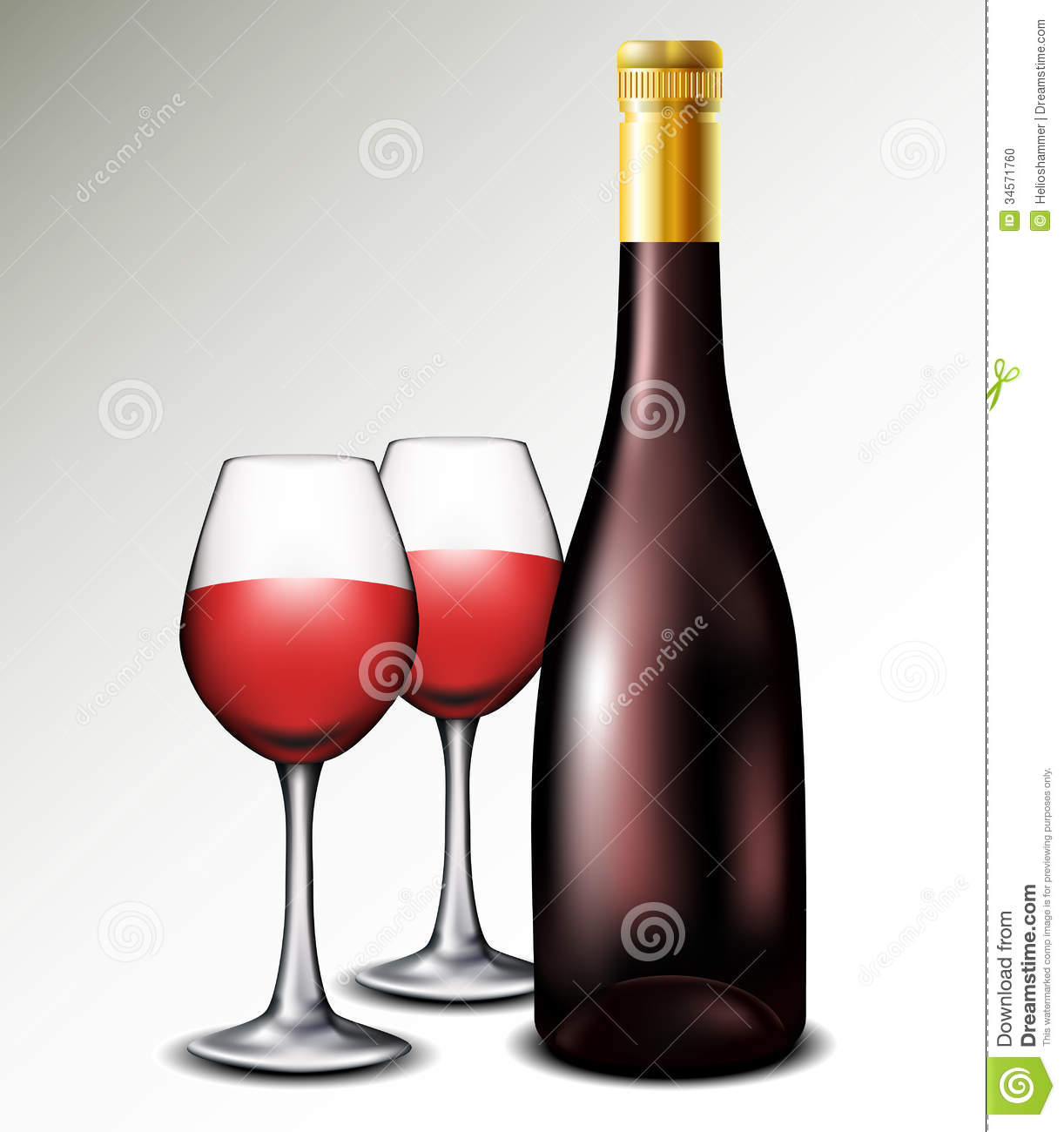wine bottle with glasses stock photo image of object 34571760. Black Bedroom Furniture Sets. Home Design Ideas