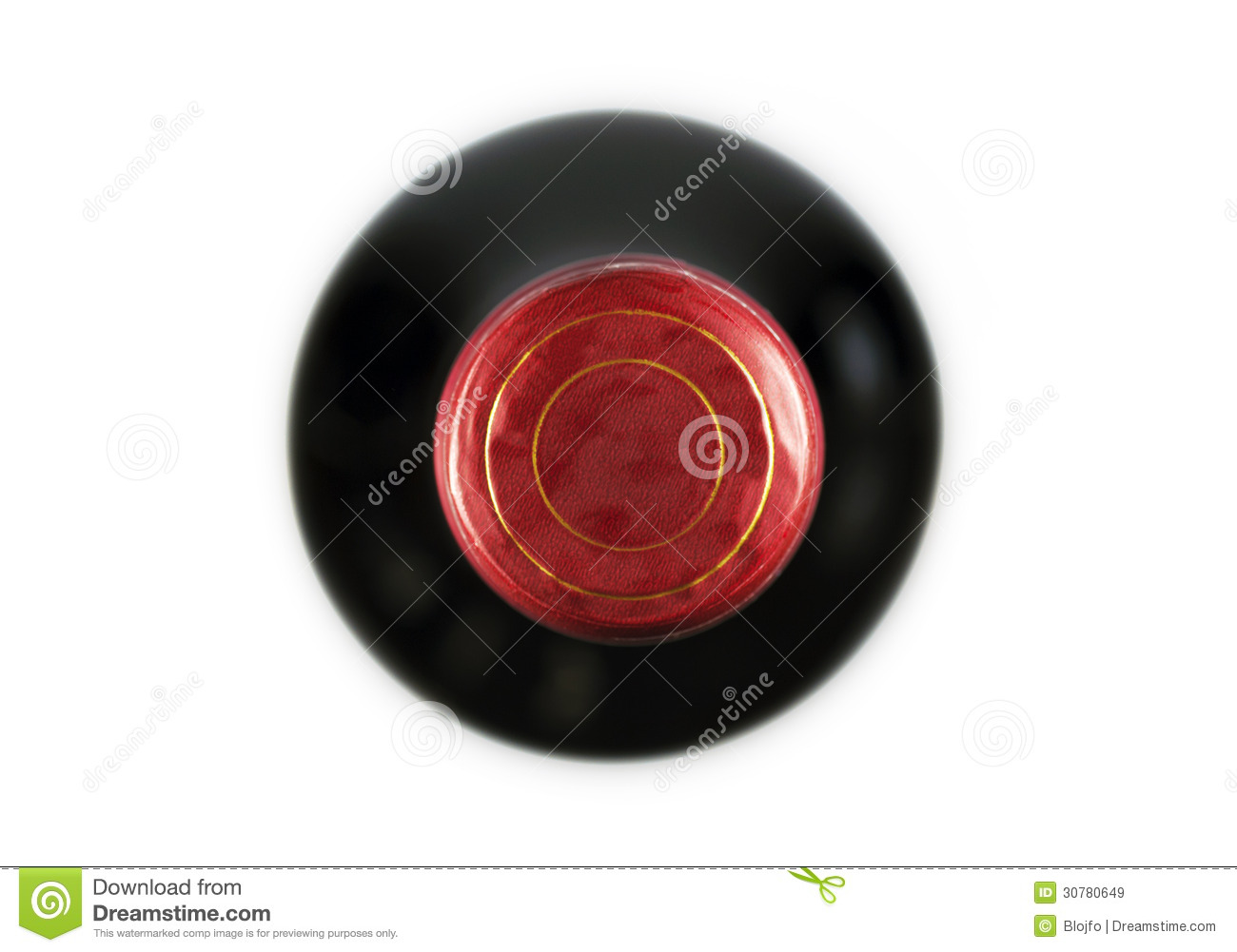 Wine bottle top royalty free stock images image 30780649 for How to cut the top off a wine bottle