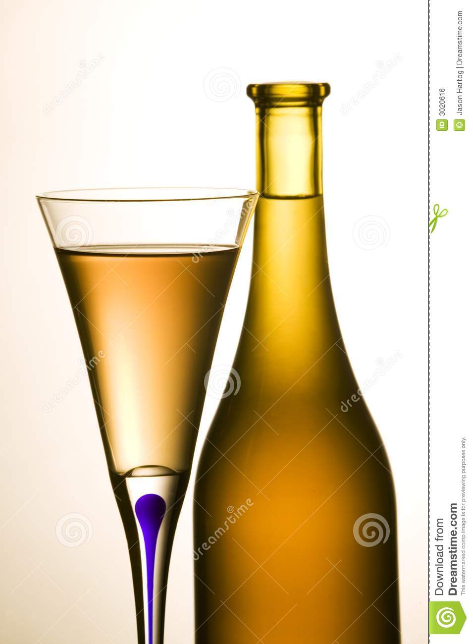 Wine bottle and wine glass royalty free stock image for Wine bottle glass