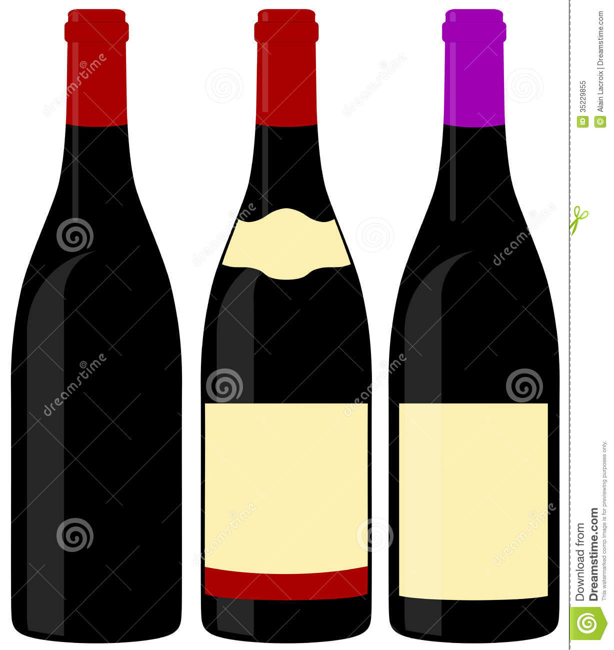 Wine bottles royalty free stock photo image 35229855 for Where to buy colored wine bottles