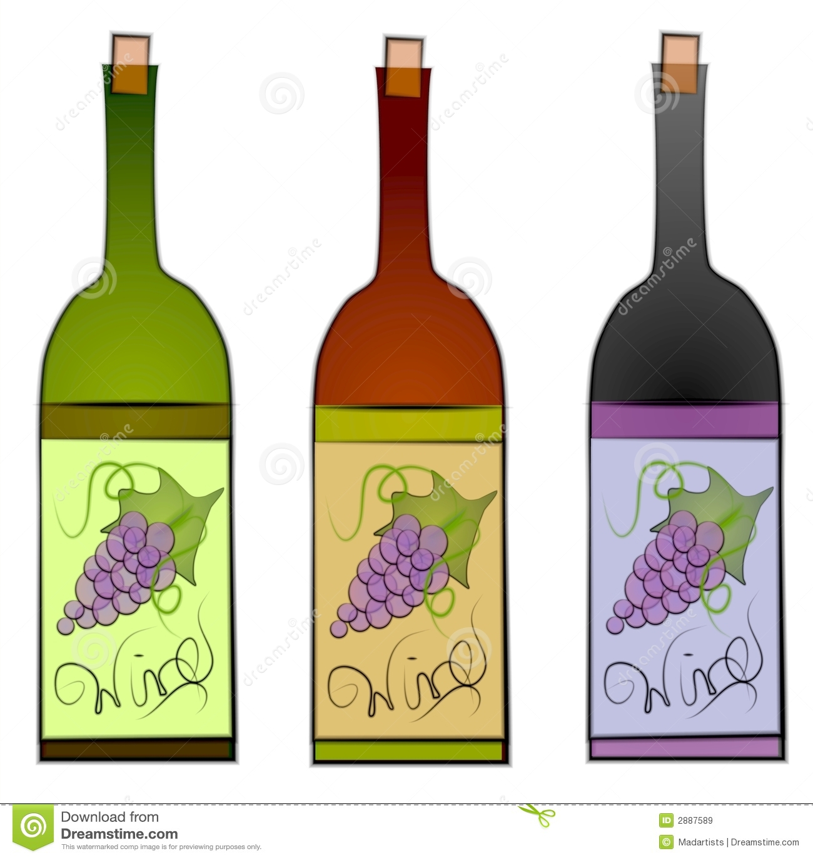 wine bottles clip art stock illustration illustration of design rh dreamstime com clip art wine o clock clip art wine bottles