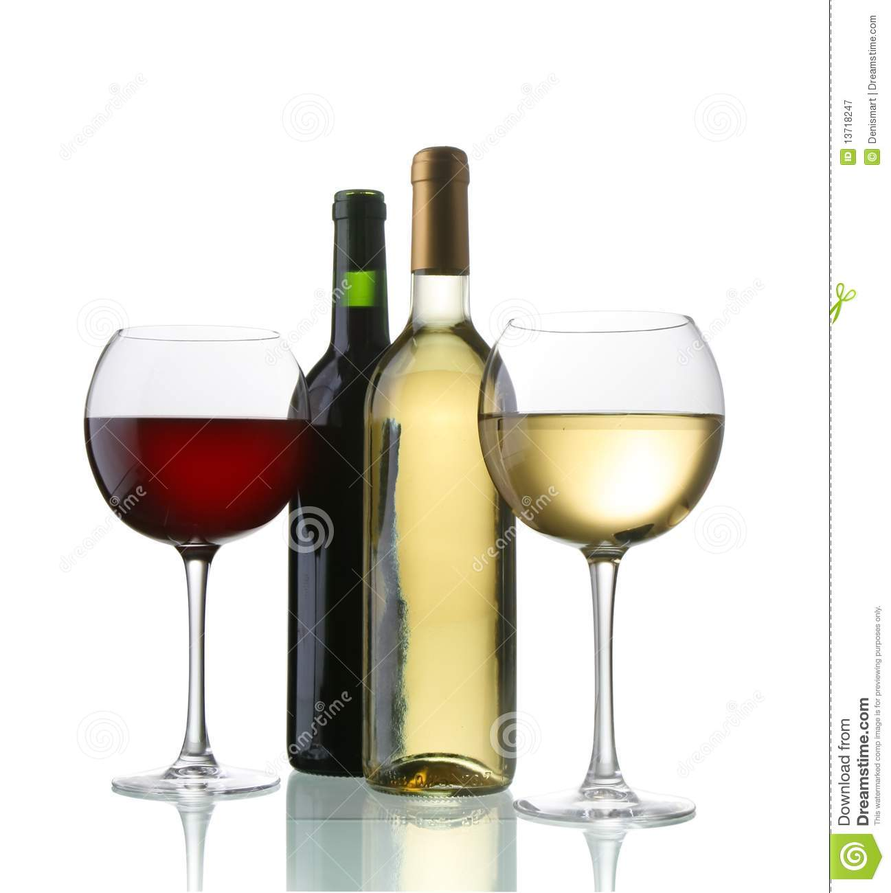 Wine bottles and glasses royalty free stock photography for Wine bottle glass
