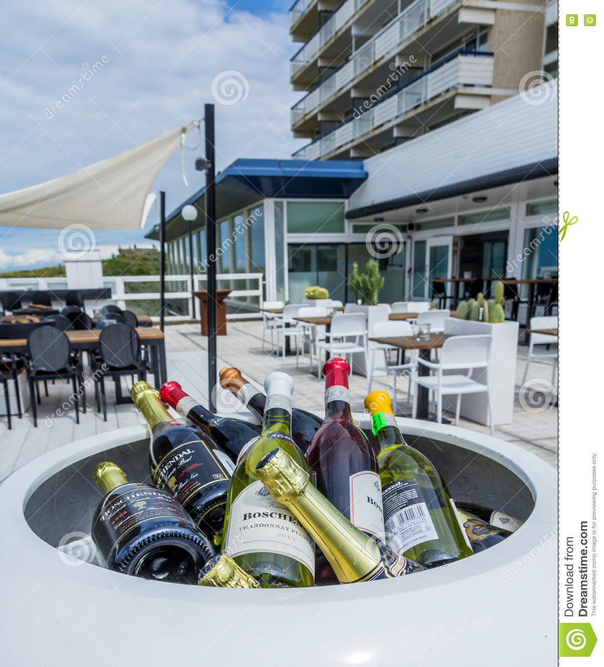 Wine Bottles At A Restaurant Editorial Photography Image Of