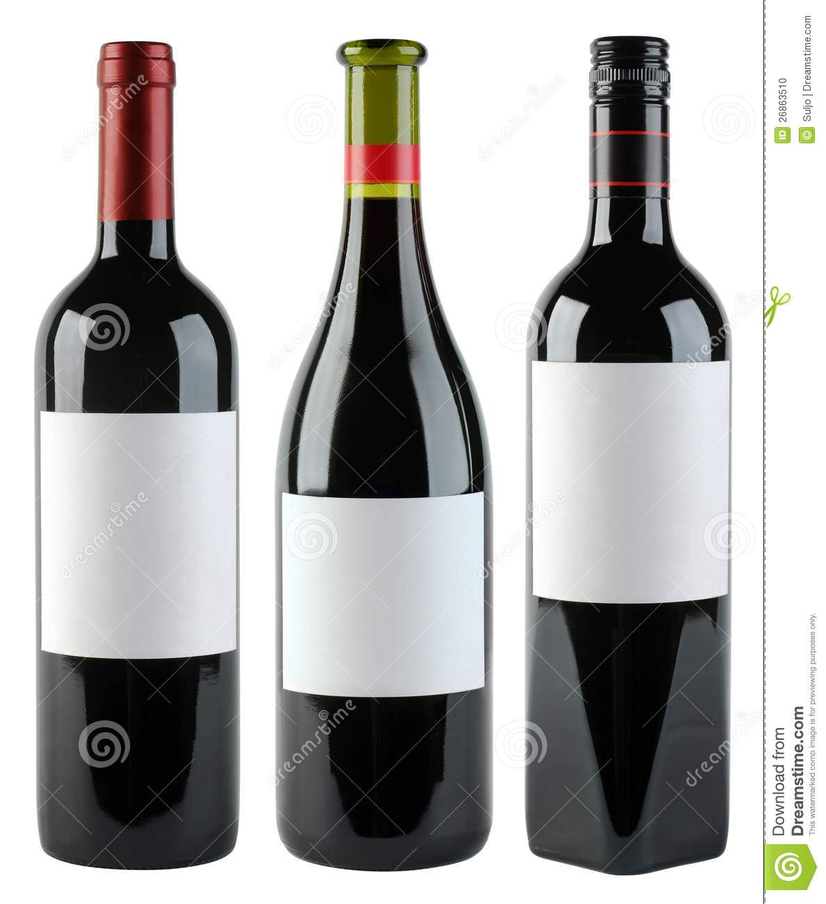 wine bottles template stock photo image of product standing 26863510