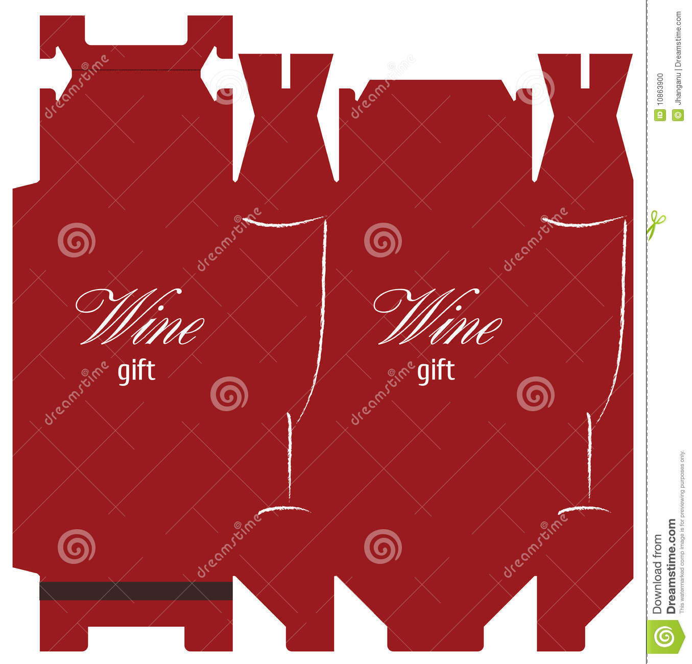 Wine Box Template Stock Photo Image 10863900