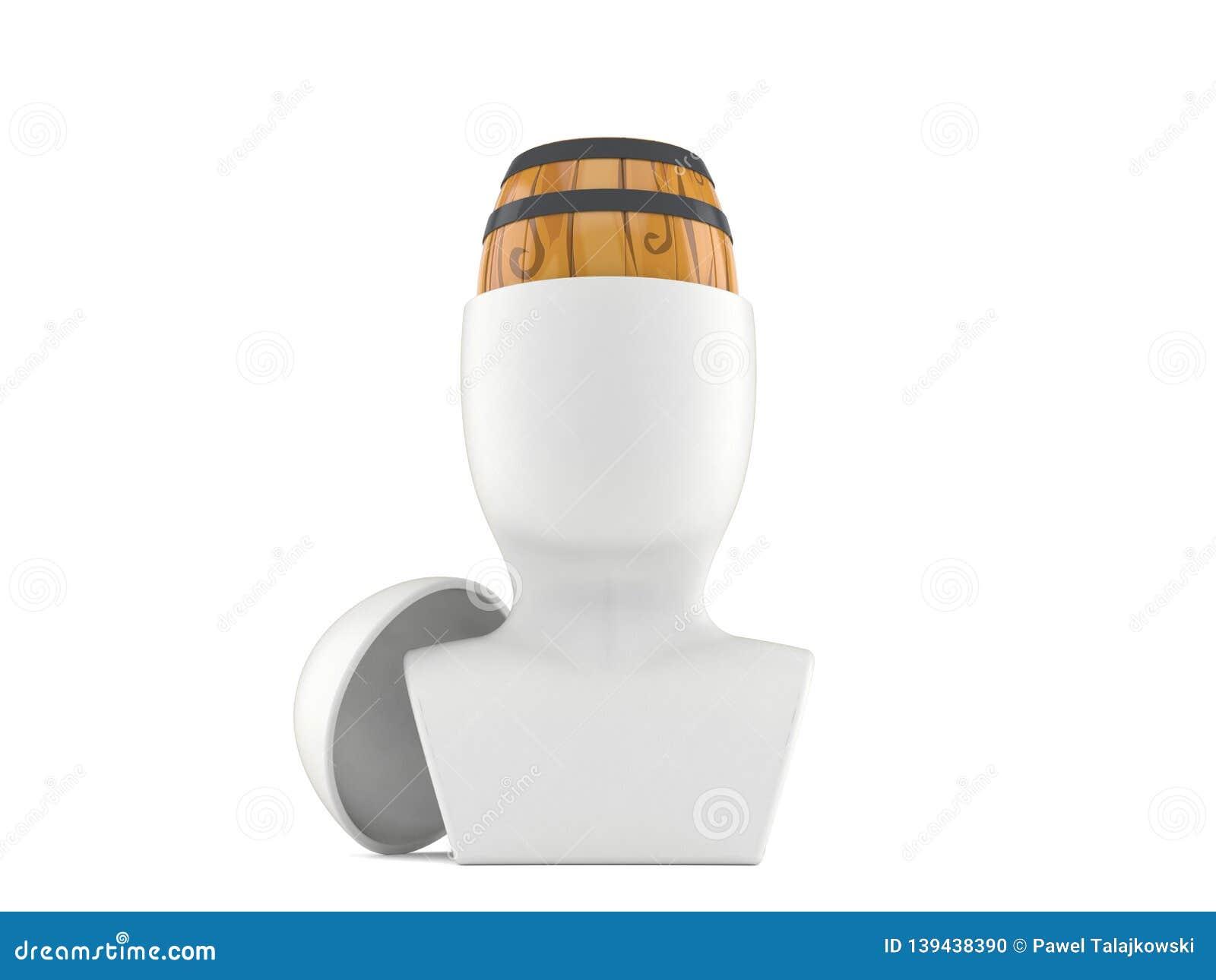 Wine cask inside head