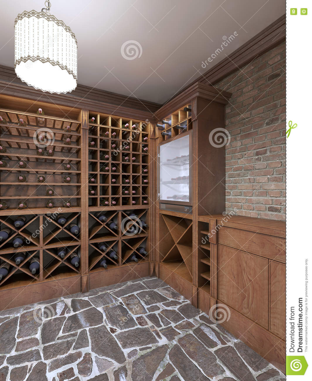 Wine Cellar In The Basement Of The House In A Rustic Style Stock Illustration Illustration Of Celebration Cellar 79486953