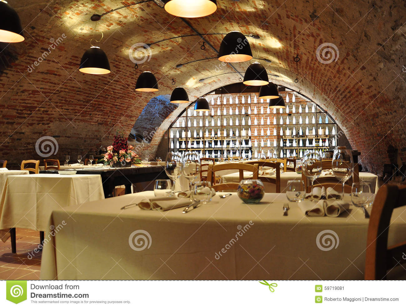 Wine Cellar Gourmet Restaurant Modern Interior Design